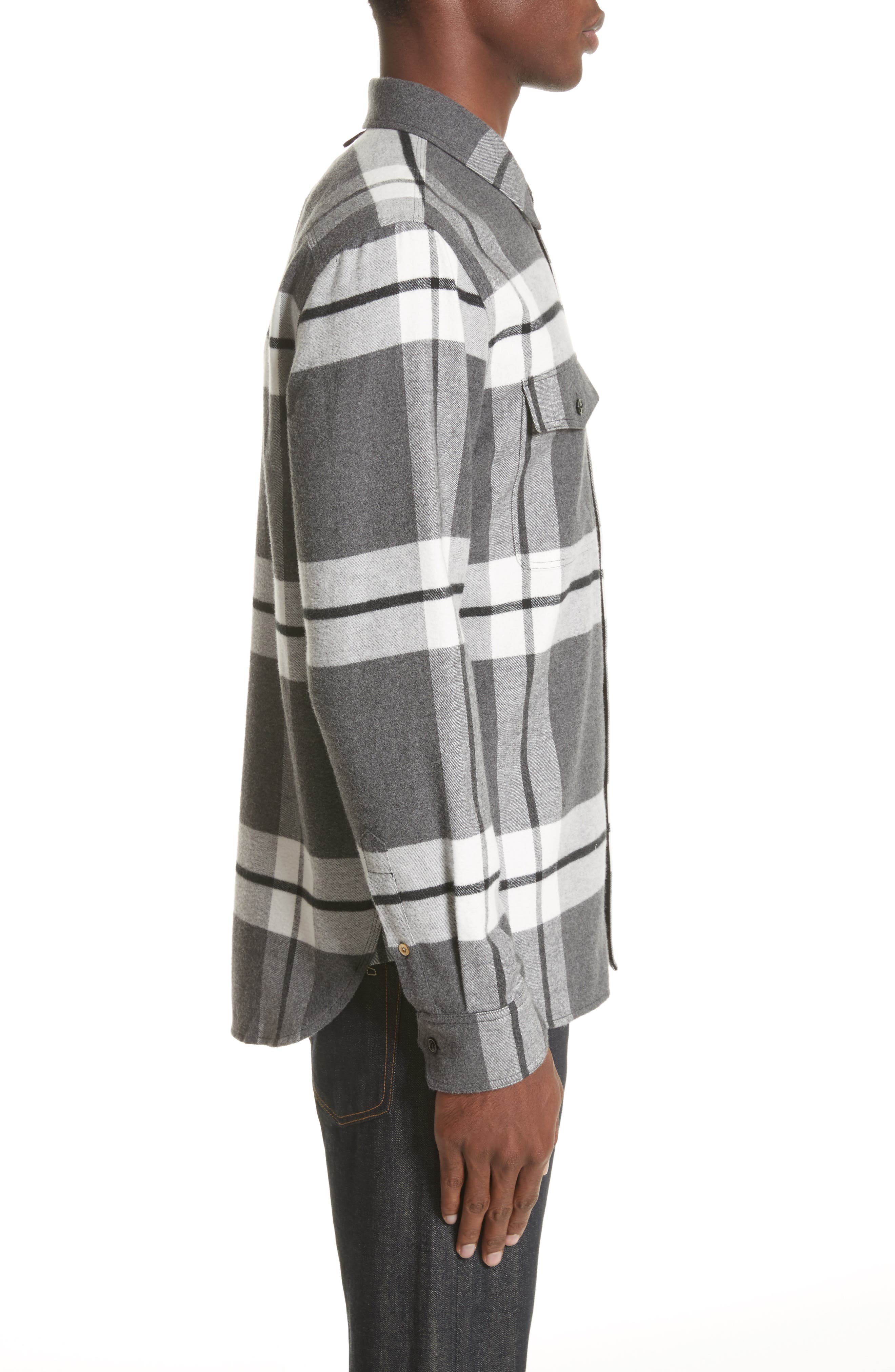 rag & bbone Jack Plaid Shirt Jacket,                             Alternate thumbnail 4, color,                             068