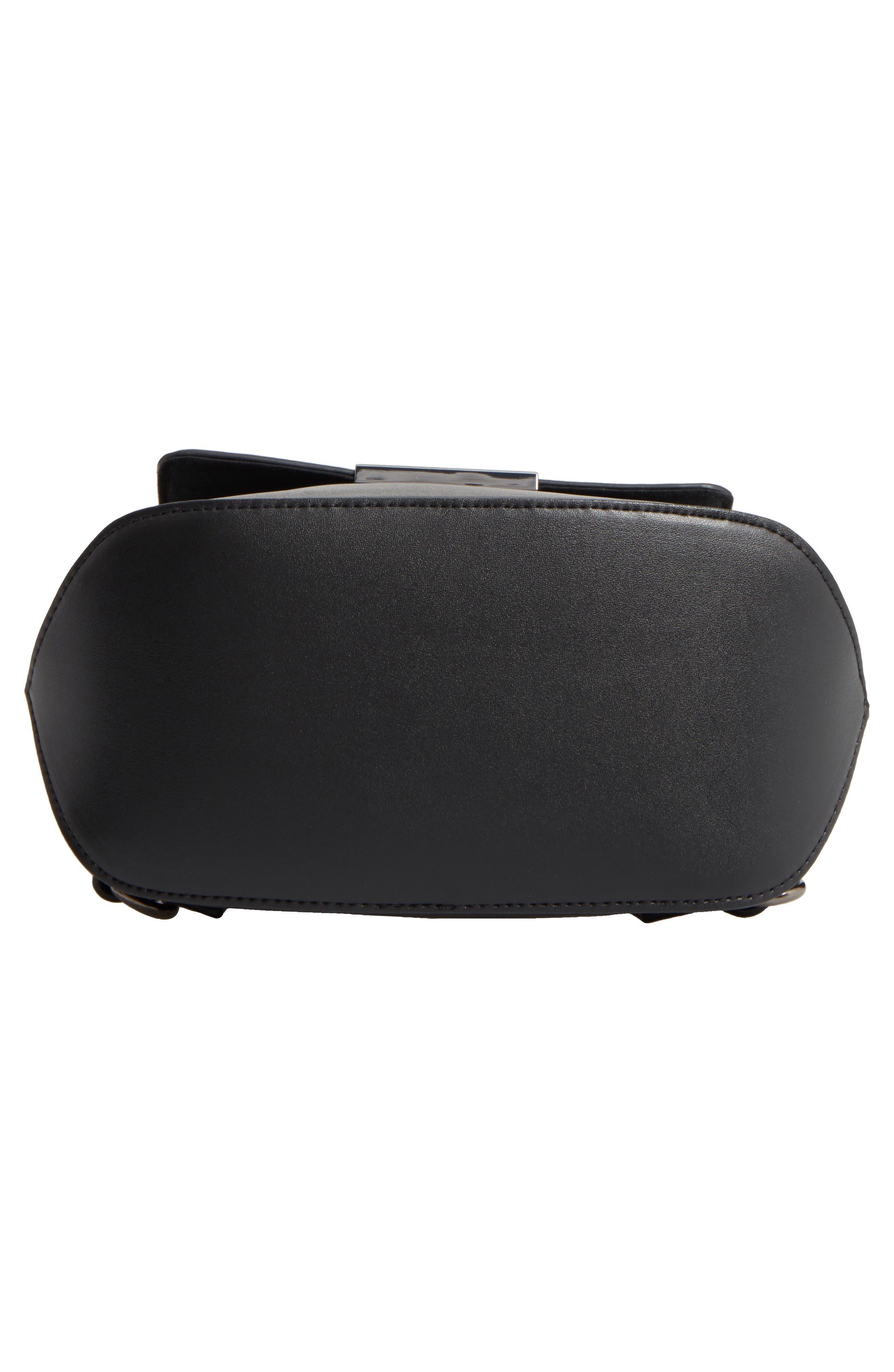 Faux Leather Mini Backpack,                             Alternate thumbnail 6, color,                             001
