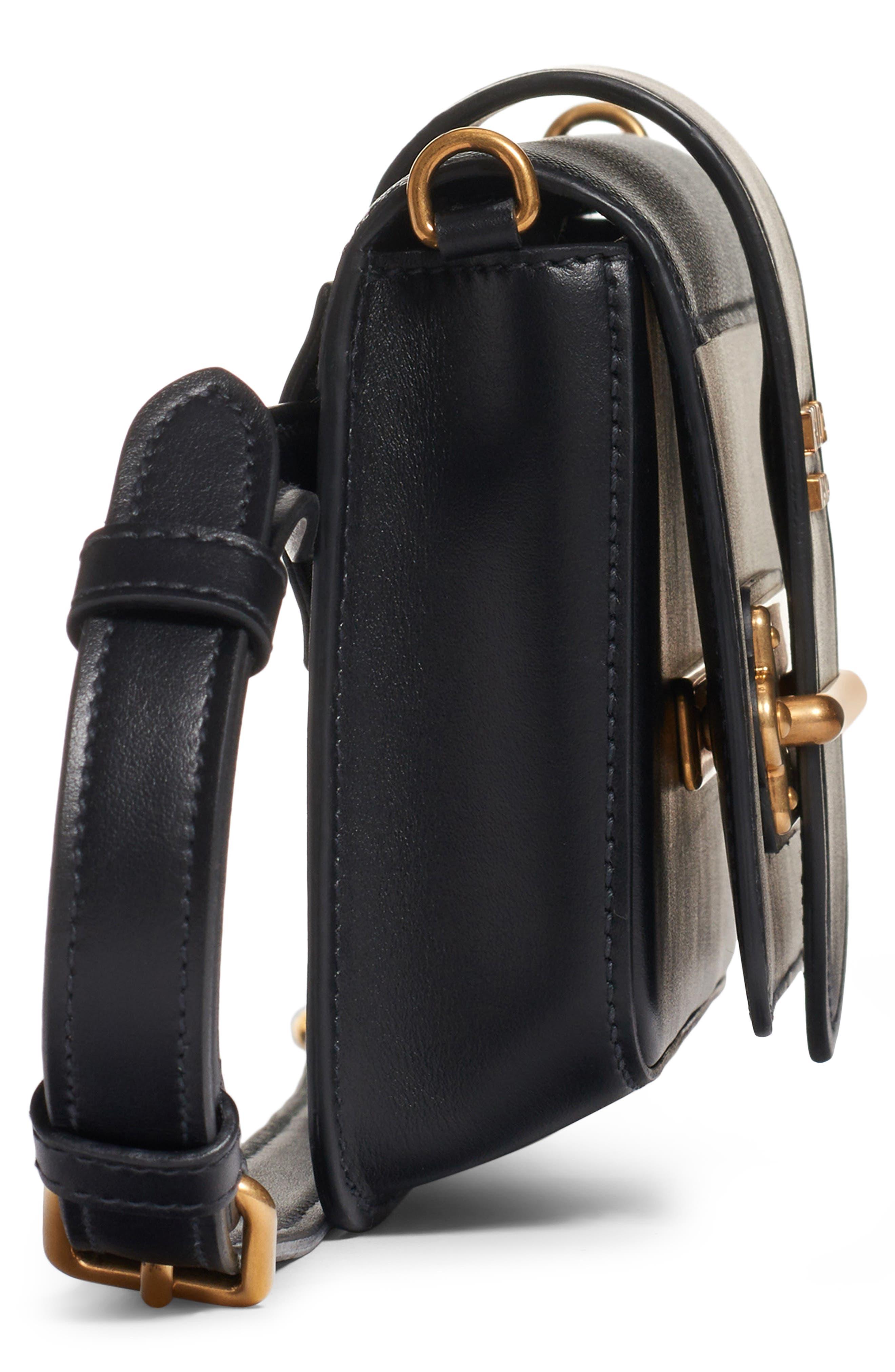 PRADA,                             Cahier Leather Belt Bag,                             Alternate thumbnail 6, color,                             001