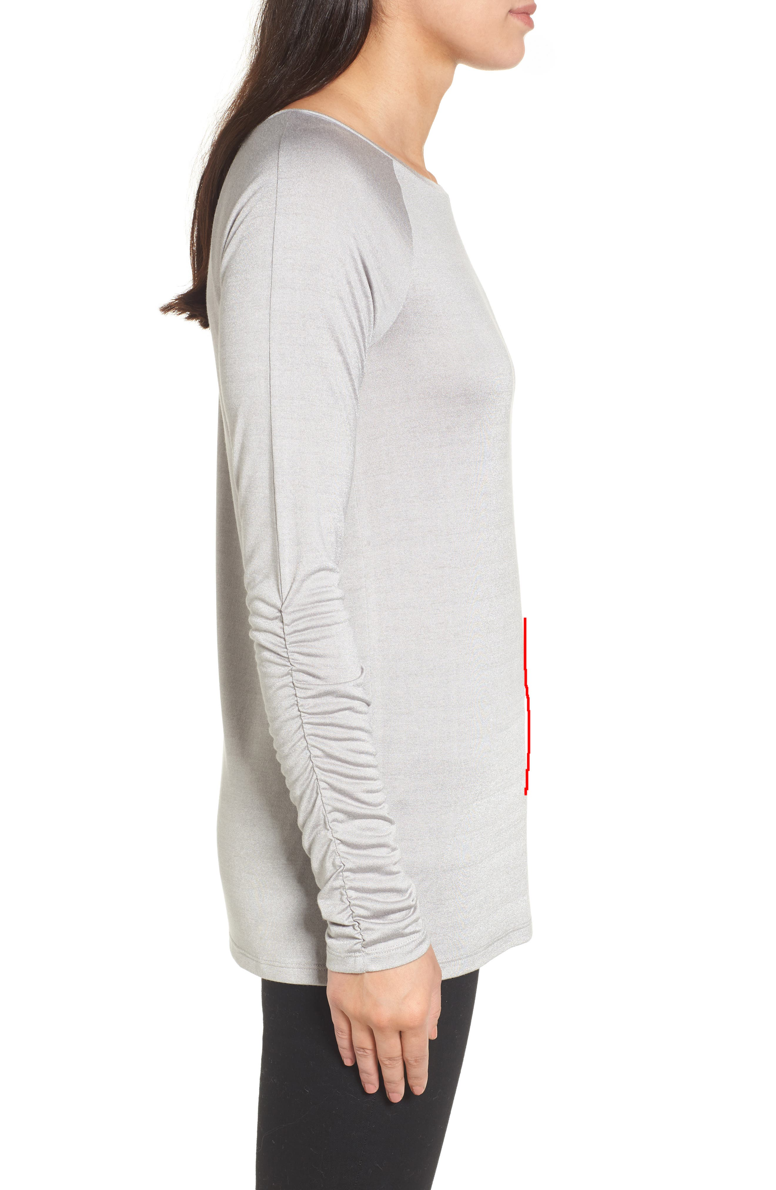Ruched Sleeve Tee,                             Alternate thumbnail 10, color,