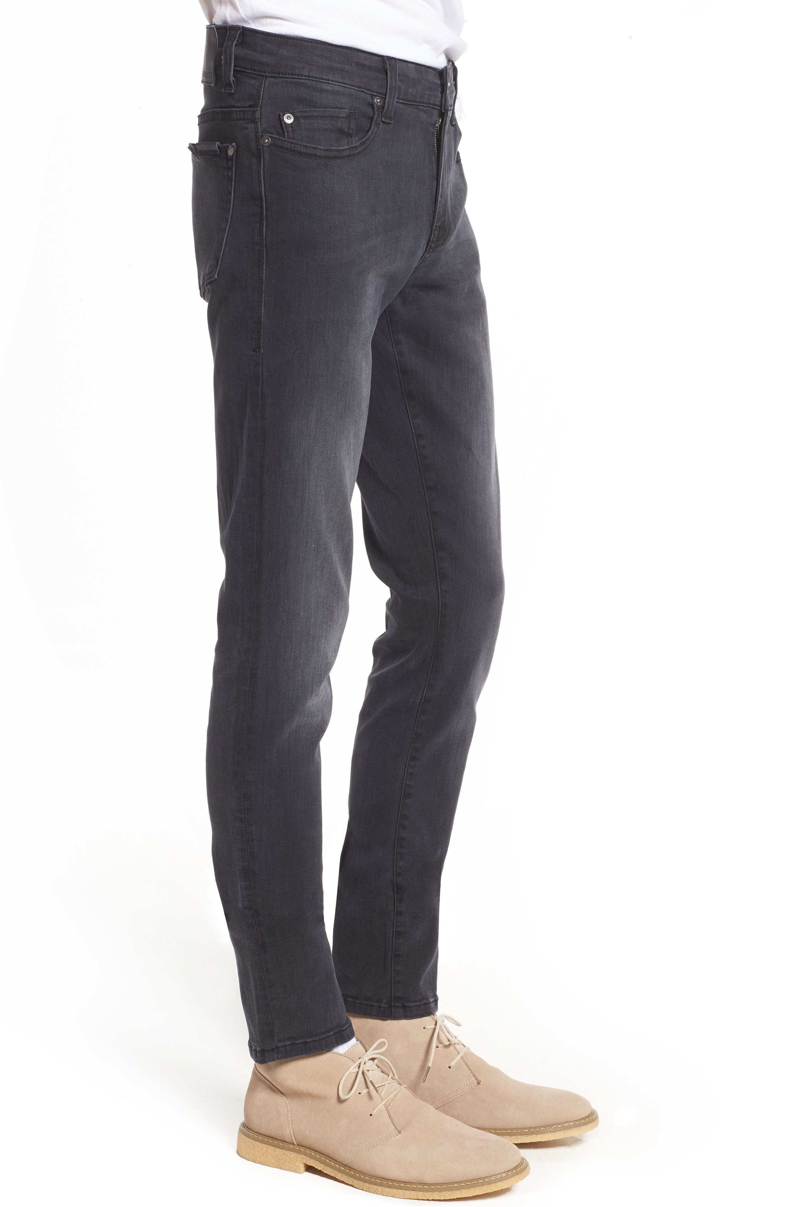 Vantage Skinny Fit Jeans,                             Alternate thumbnail 3, color,                             WOLF GREY