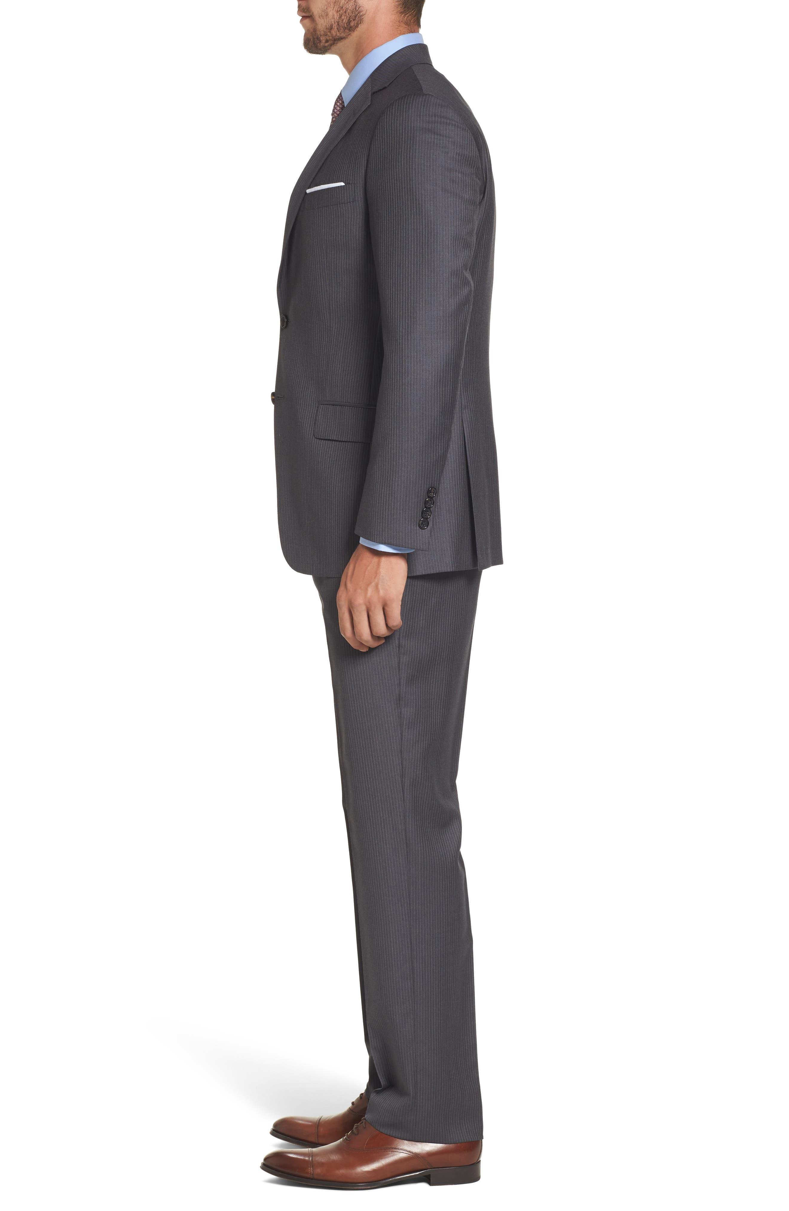 Classic Fit Stripe Wool Suit,                             Alternate thumbnail 3, color,                             030