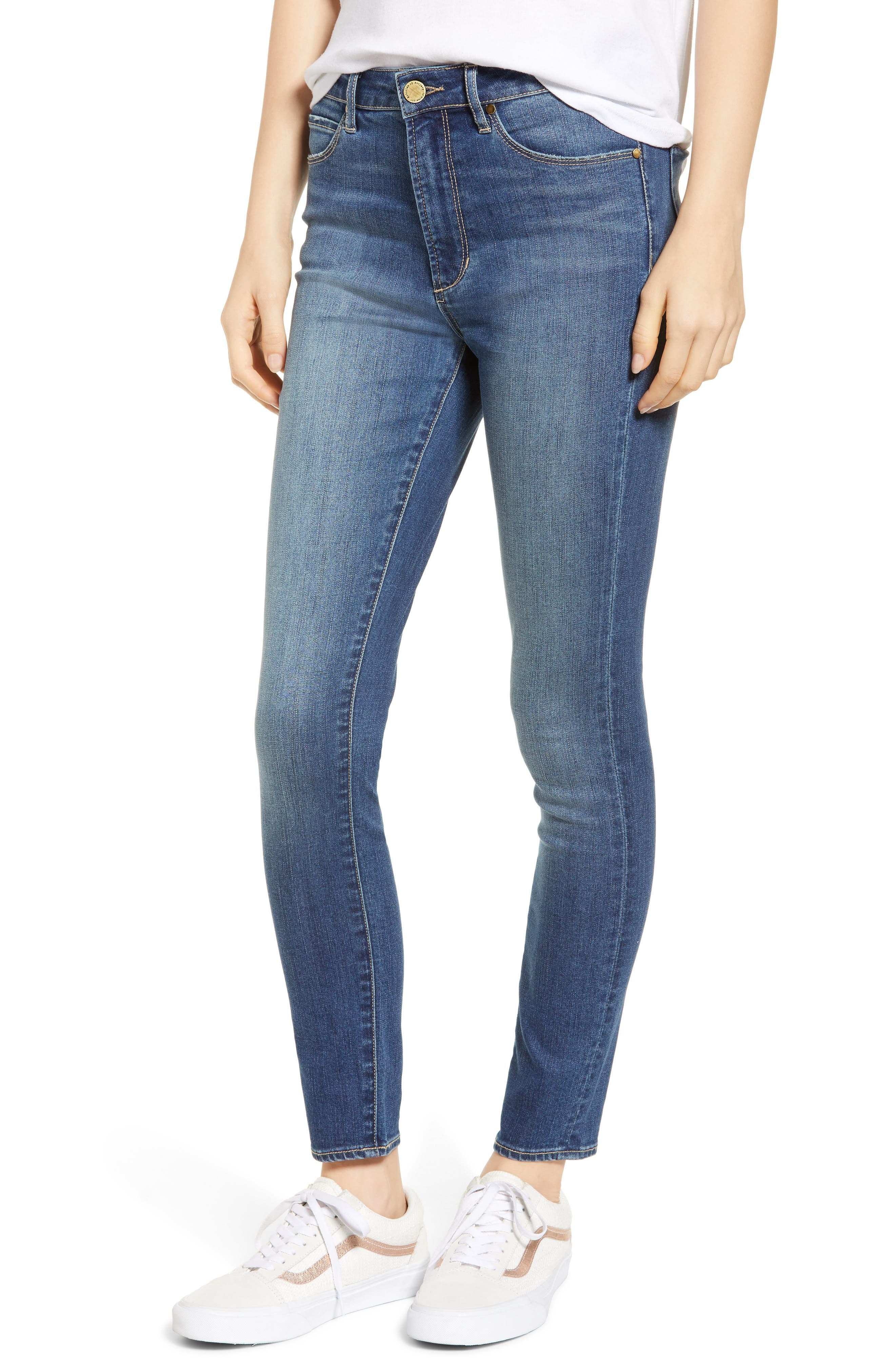 ARTICLES OF SOCIETY Heather High Waist Ankle Skinny Jeans in Stony Hill