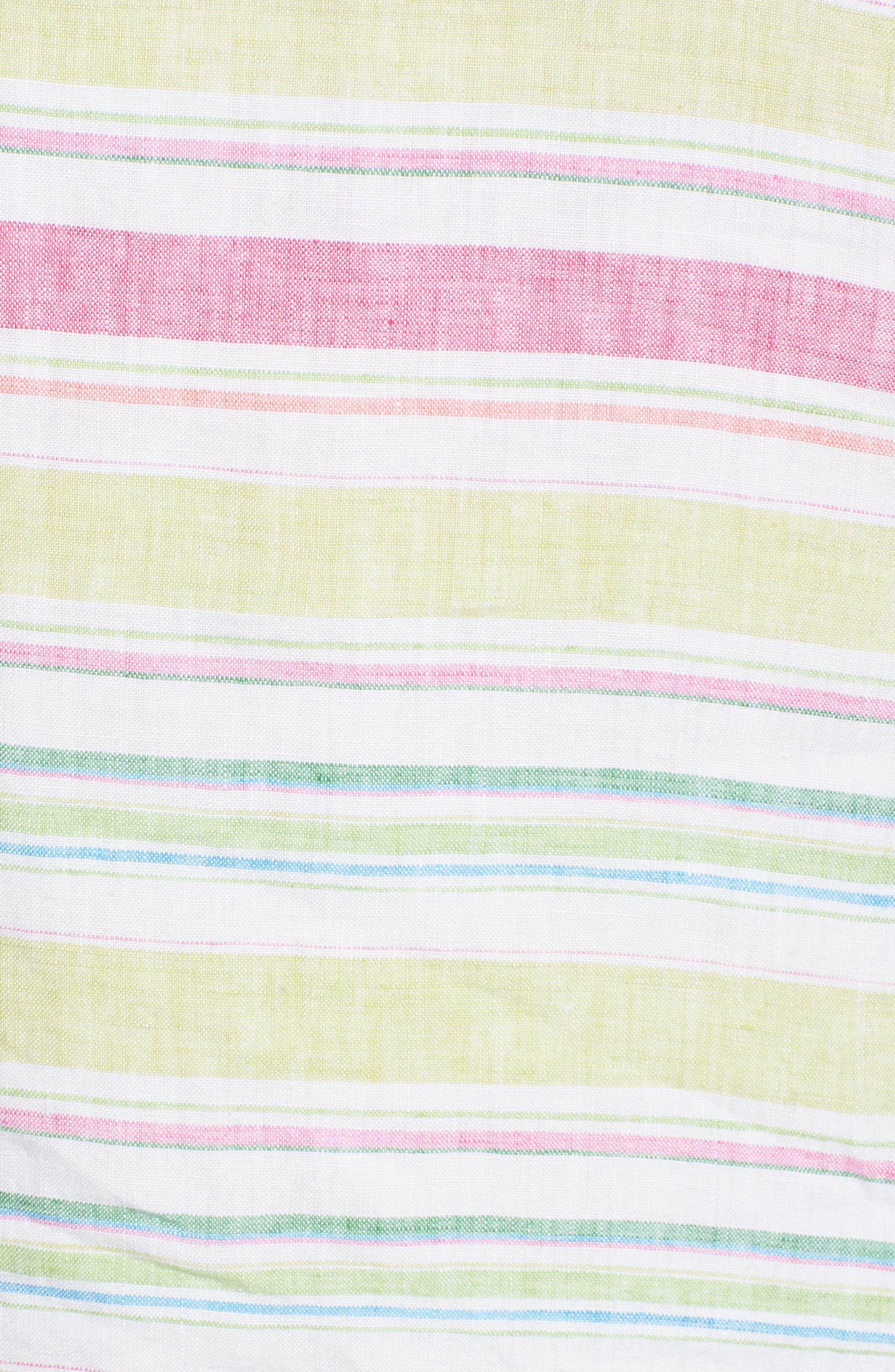 Tulum Stripe Shift Dress,                             Alternate thumbnail 5, color,                             700
