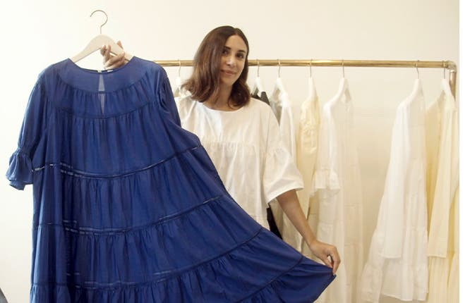 Video interview with Merlette's Marina Cortbawi at New York Fashion Week.