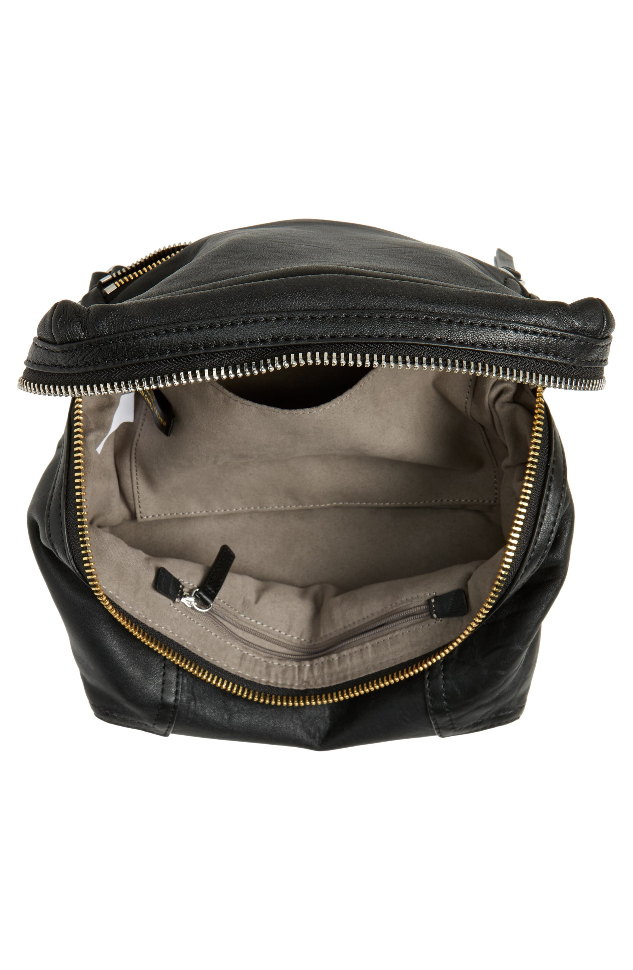 Medium Patch Leather Crossbody Bag,                             Alternate thumbnail 4, color,                             002