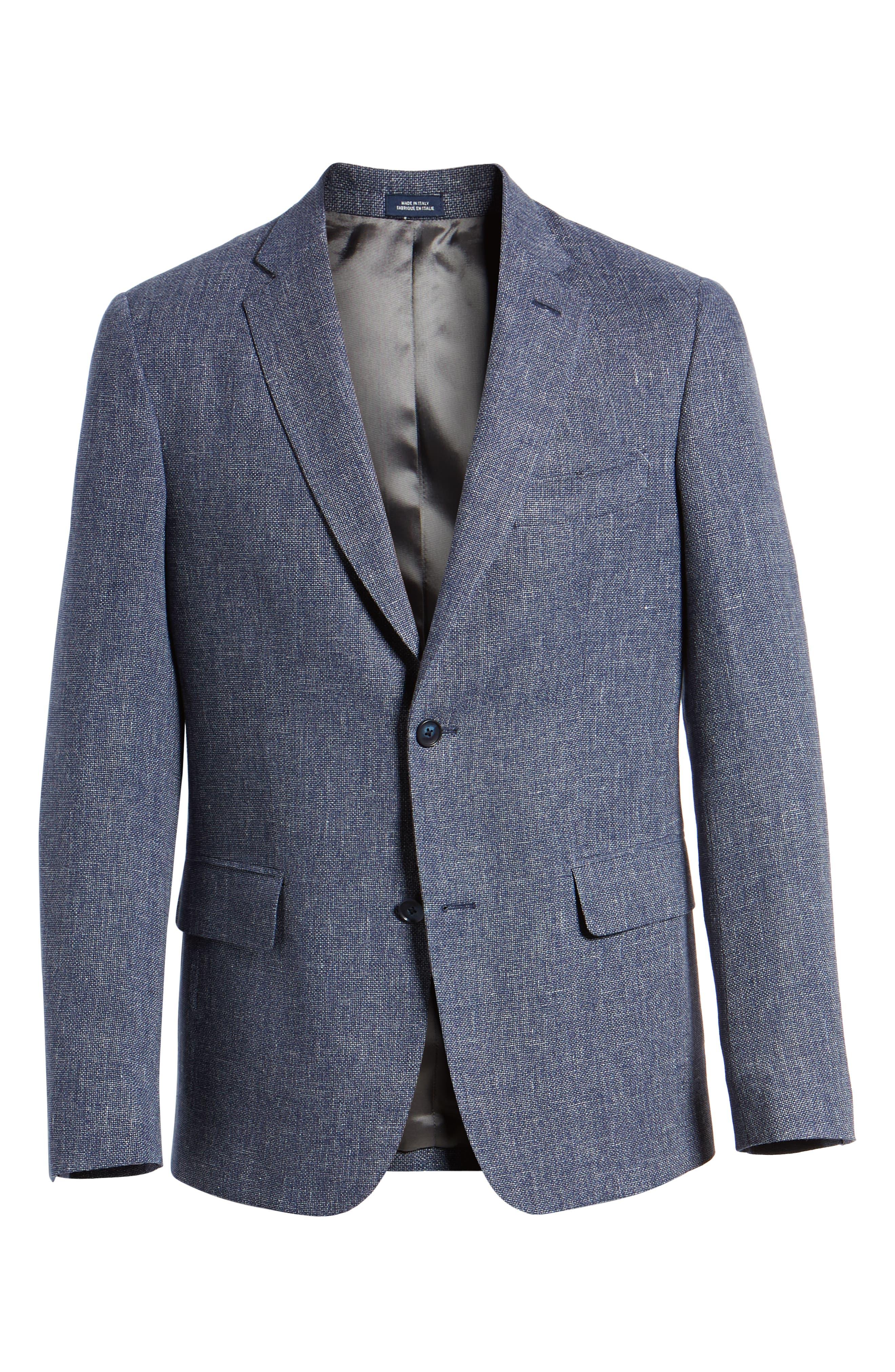 Traditional Fit Mélange Wool & Linen Sport Coat,                             Alternate thumbnail 5, color,