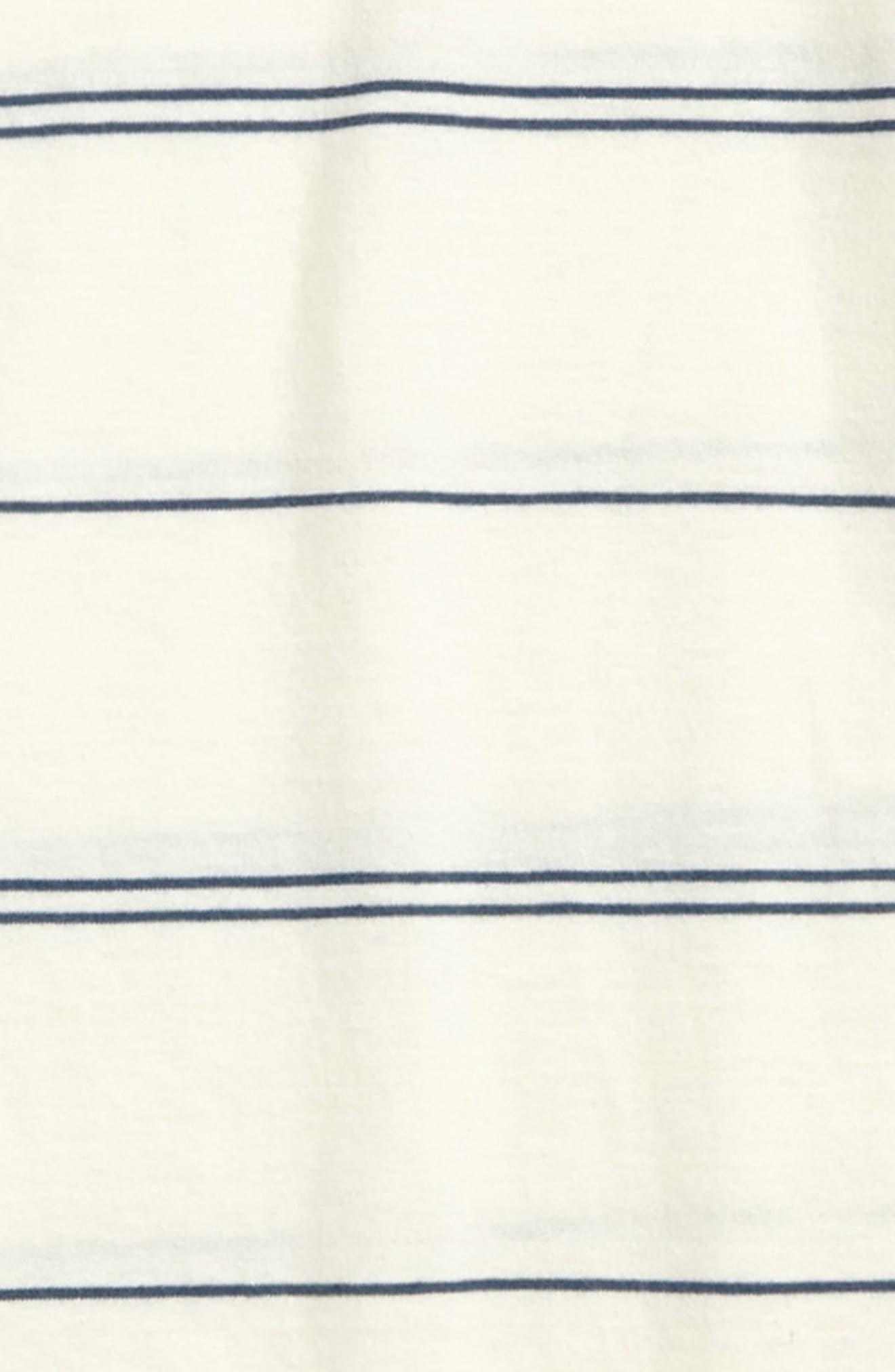 Die Cut Stripe Ringer T-Shirt,                             Alternate thumbnail 4, color,