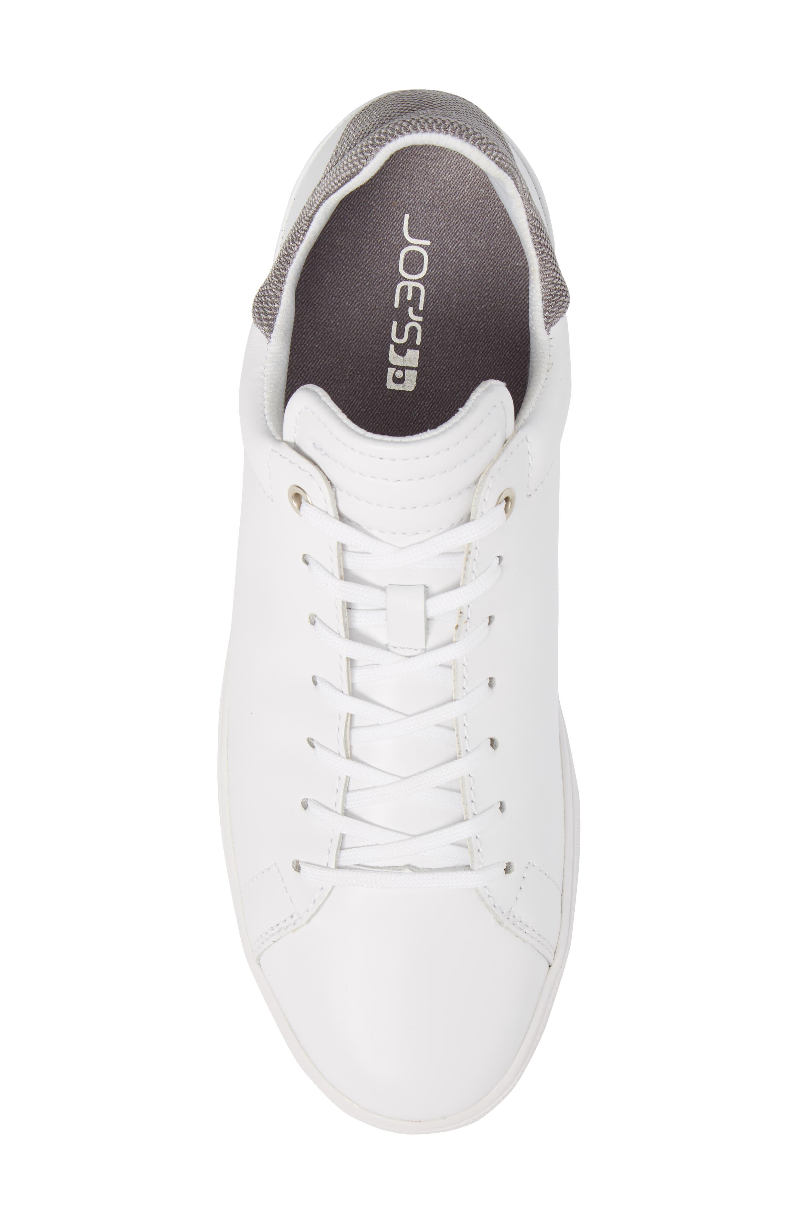 Joe Mama Sneaker,                             Alternate thumbnail 5, color,                             WHITE LEATHER