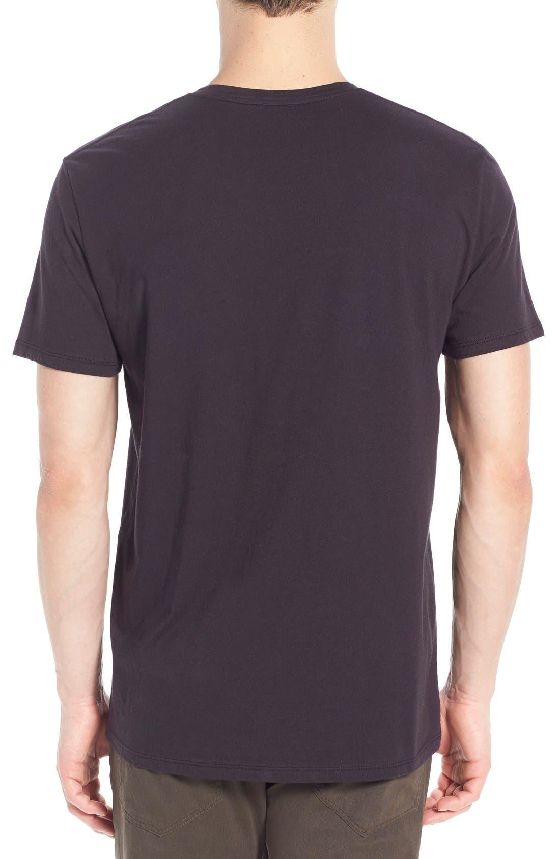 VINCE,                             Pima Cotton V-Neck T-Shirt,                             Alternate thumbnail 8, color,                             BLACK