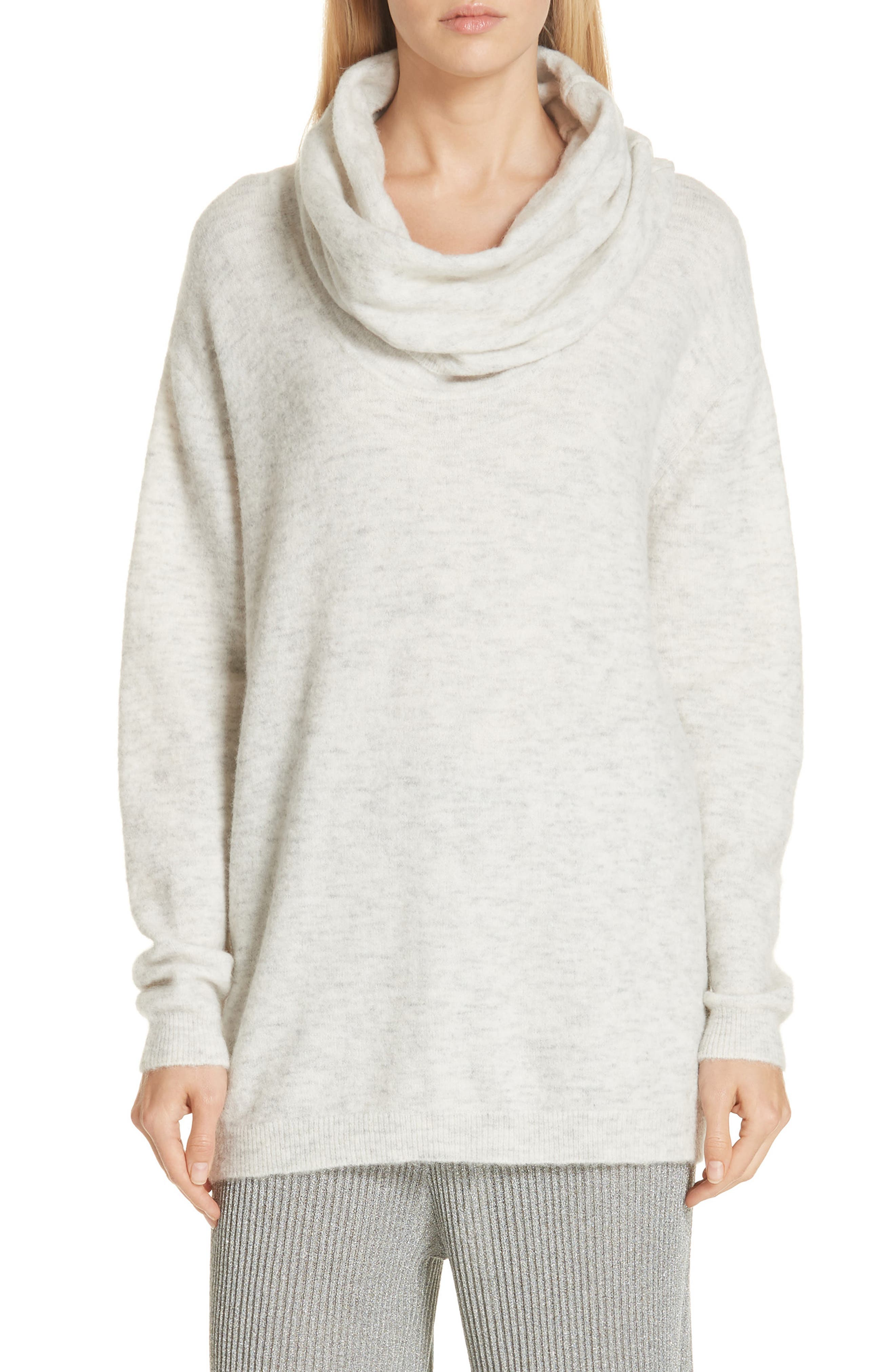 Mineral Cowl Neck Sweater,                             Main thumbnail 1, color,                             GREY