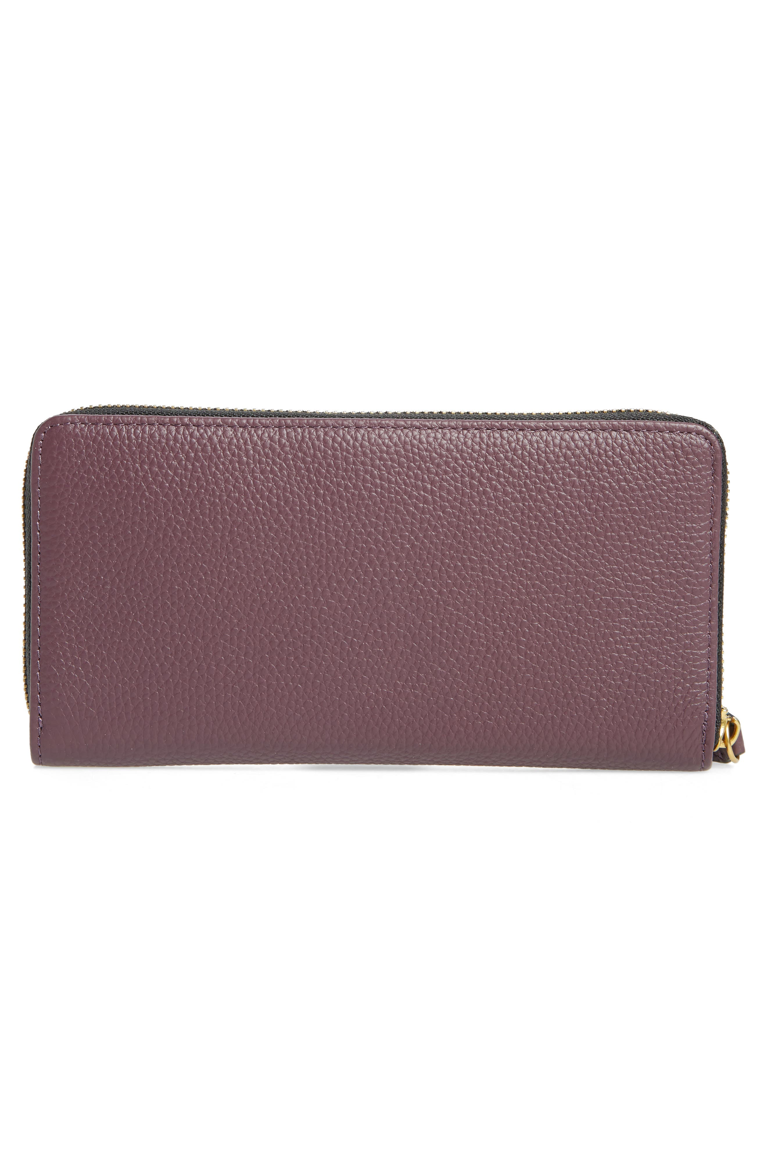 Zip Around Leather Wallet,                             Alternate thumbnail 12, color,