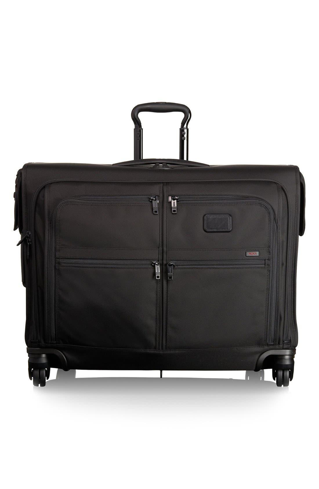 Alpha 2 Medium Trip Wheeled Garment Bag,                             Main thumbnail 1, color,                             BLACK