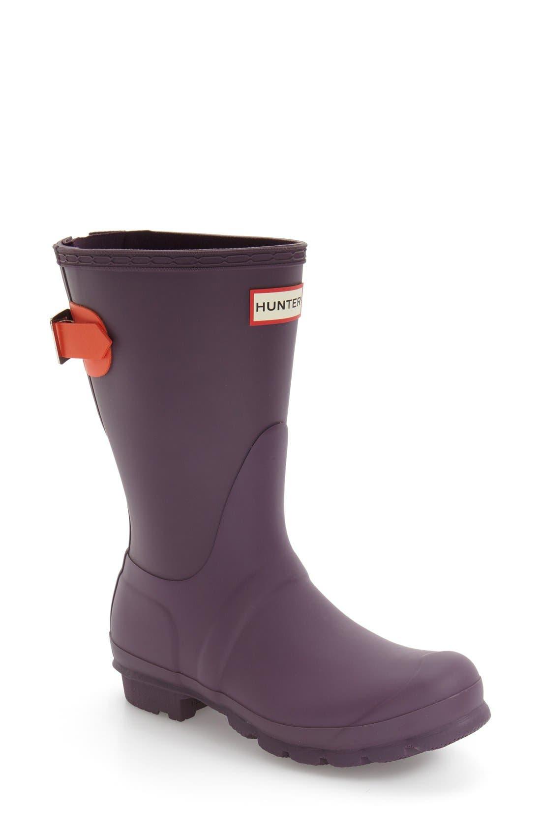 Original Short Back Adjustable Rain Boot,                             Main thumbnail 12, color,