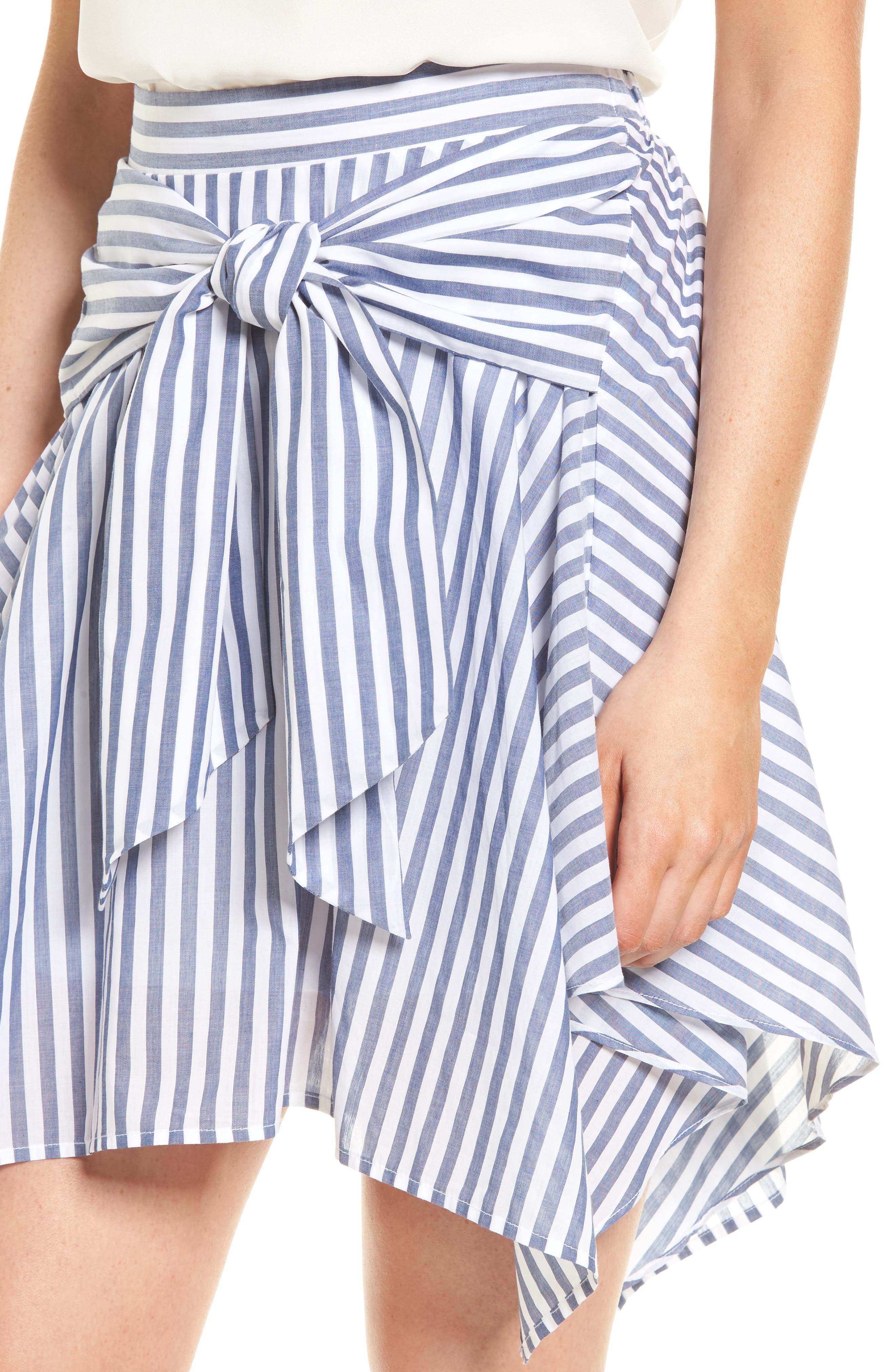 BP.,                             Tie Waist Handkerchief Hem Skirt,                             Alternate thumbnail 4, color,                             410