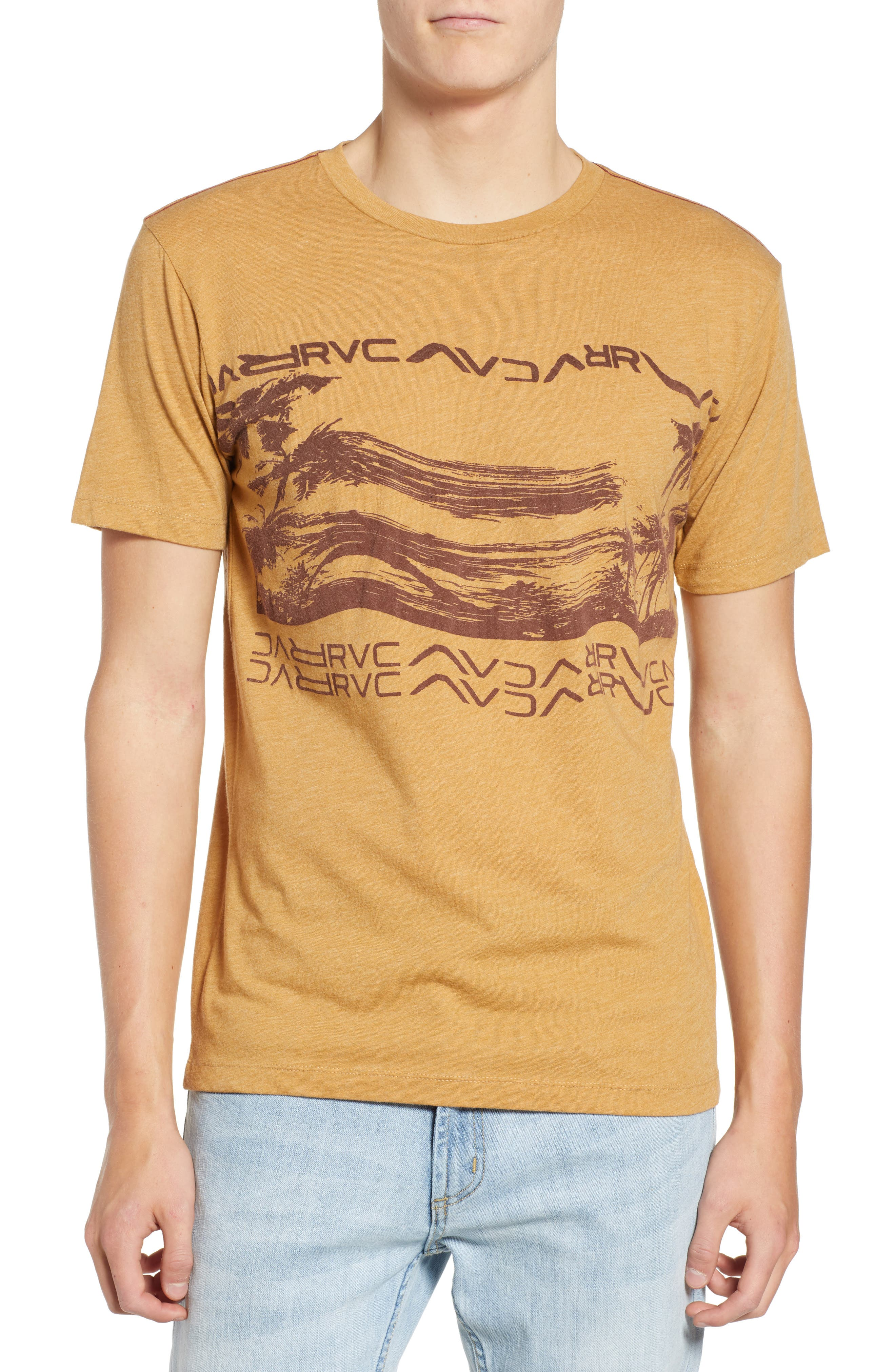 Warped Palm Graphic T-Shirt,                             Main thumbnail 1, color,                             APPLE CINNAMON
