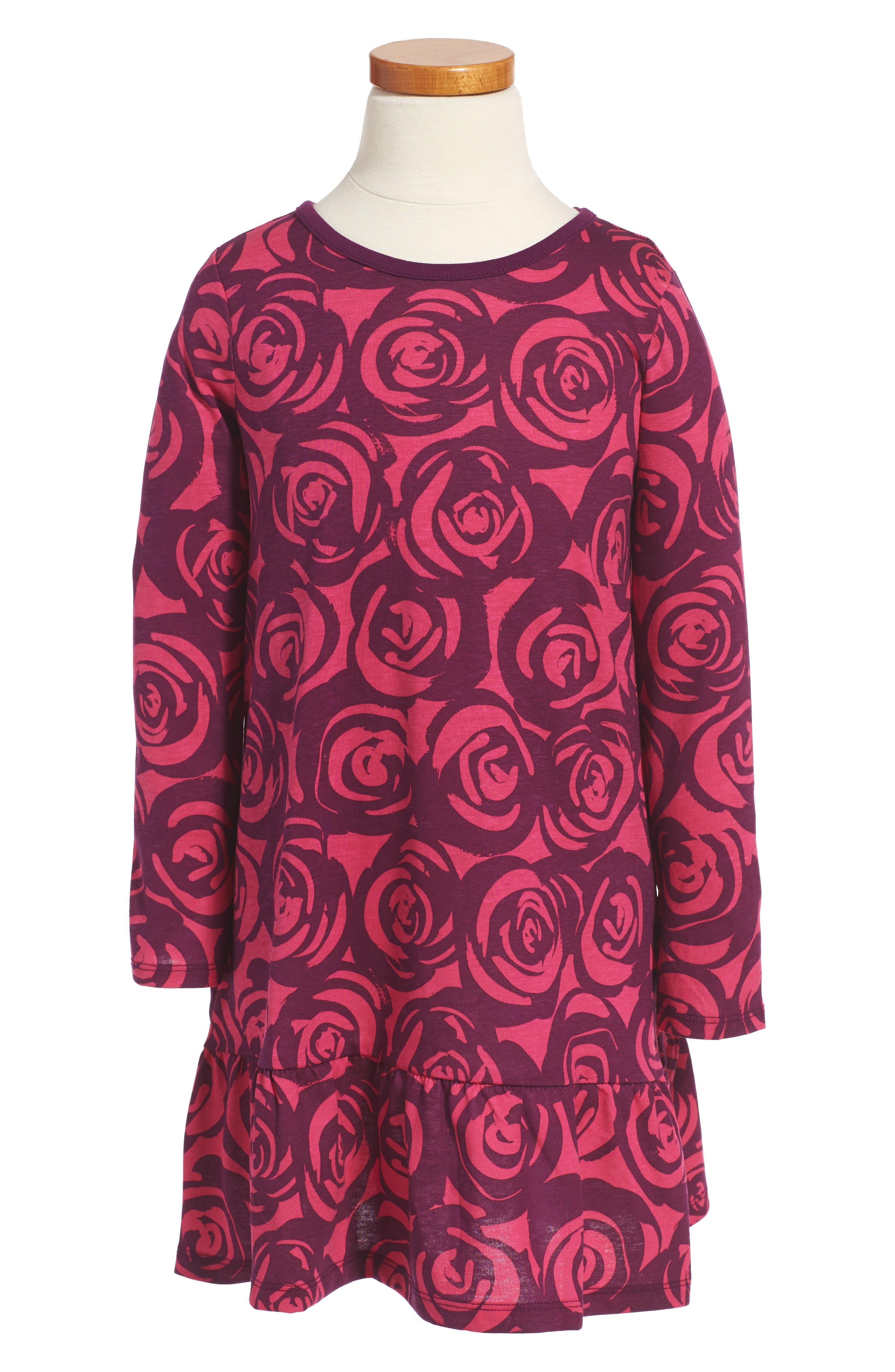 Rennie Rose Ruffle Dress,                             Main thumbnail 1, color,                             651