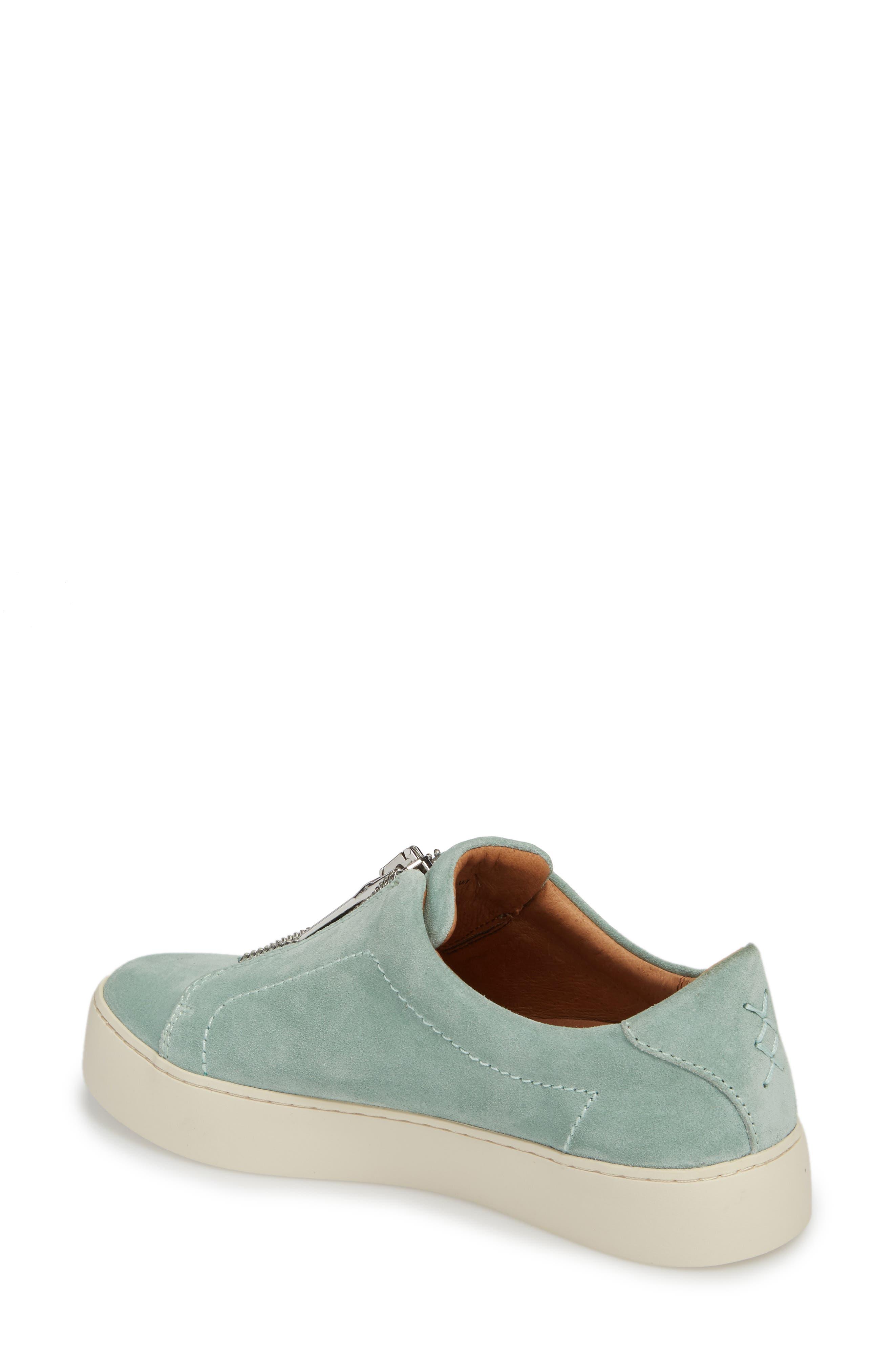 Lena Zip Sneaker,                             Alternate thumbnail 2, color,                             MINT SUEDE