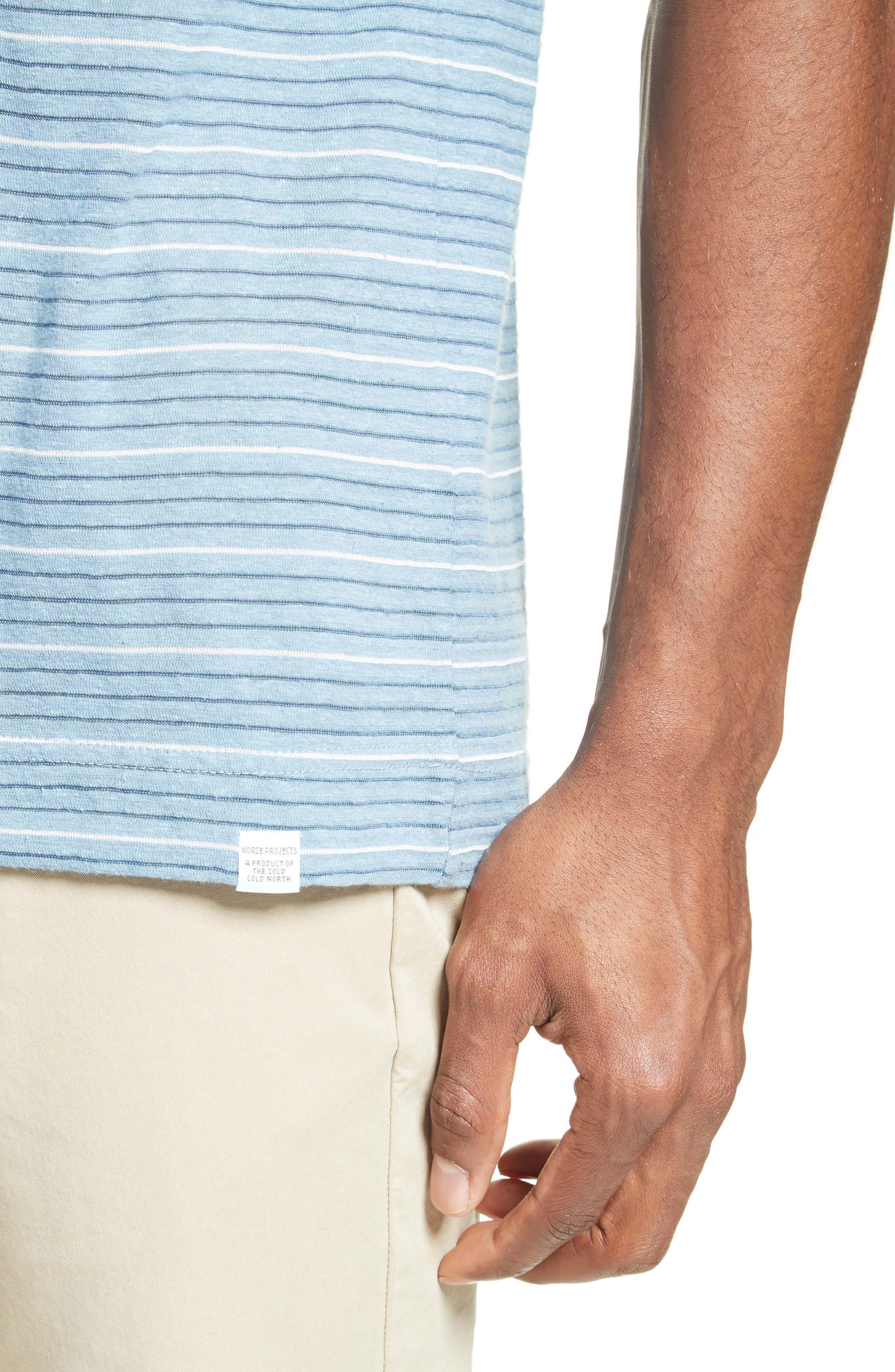 Stripe T-Shirt,                             Alternate thumbnail 4, color,                             100