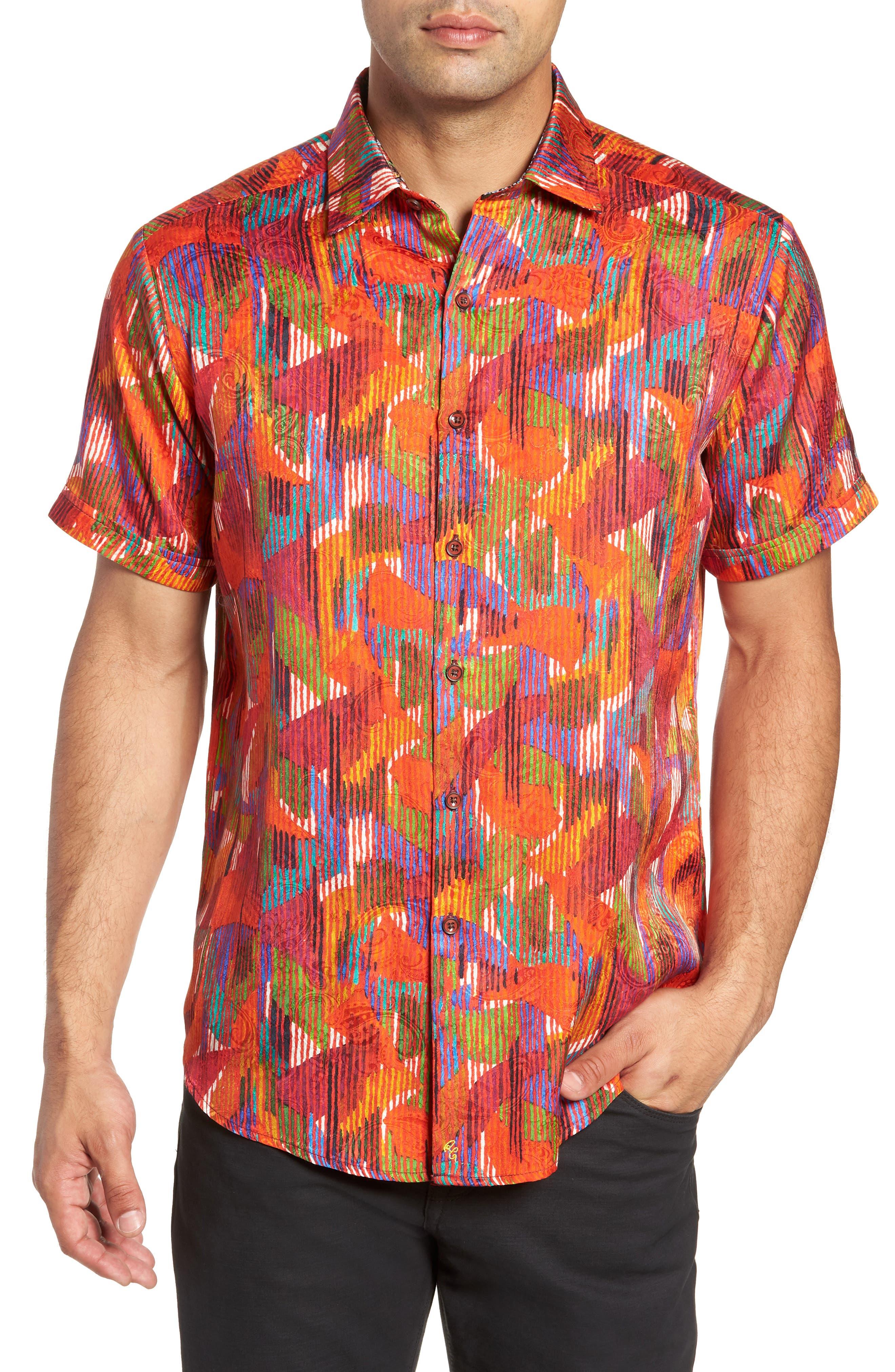 ROBERT GRAHAM Gallagher Classic Fit Silk Blend Sport Shirt, Main, color, 600
