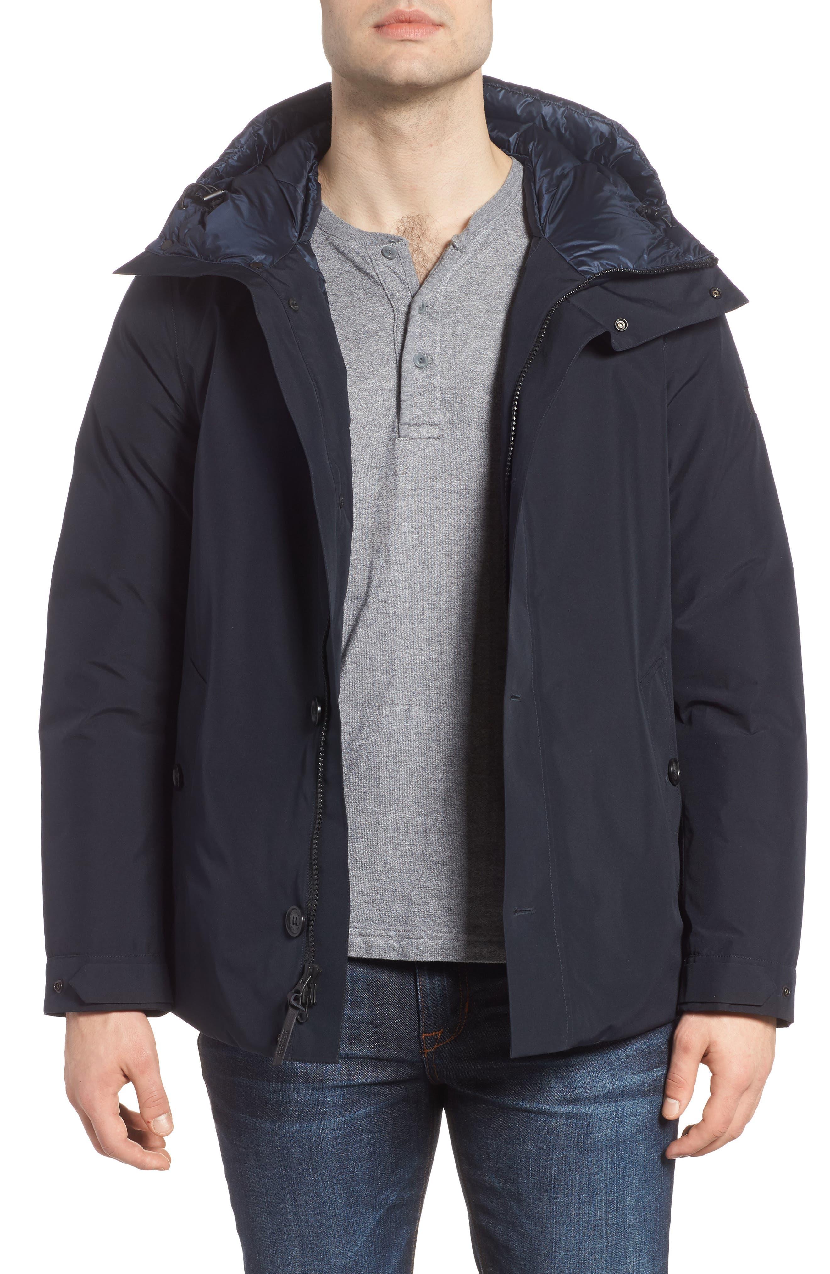 Waterproof Gore-Tex<sup>®</sup> Alpine Jacket,                             Main thumbnail 1, color,                             NAVY MELTON