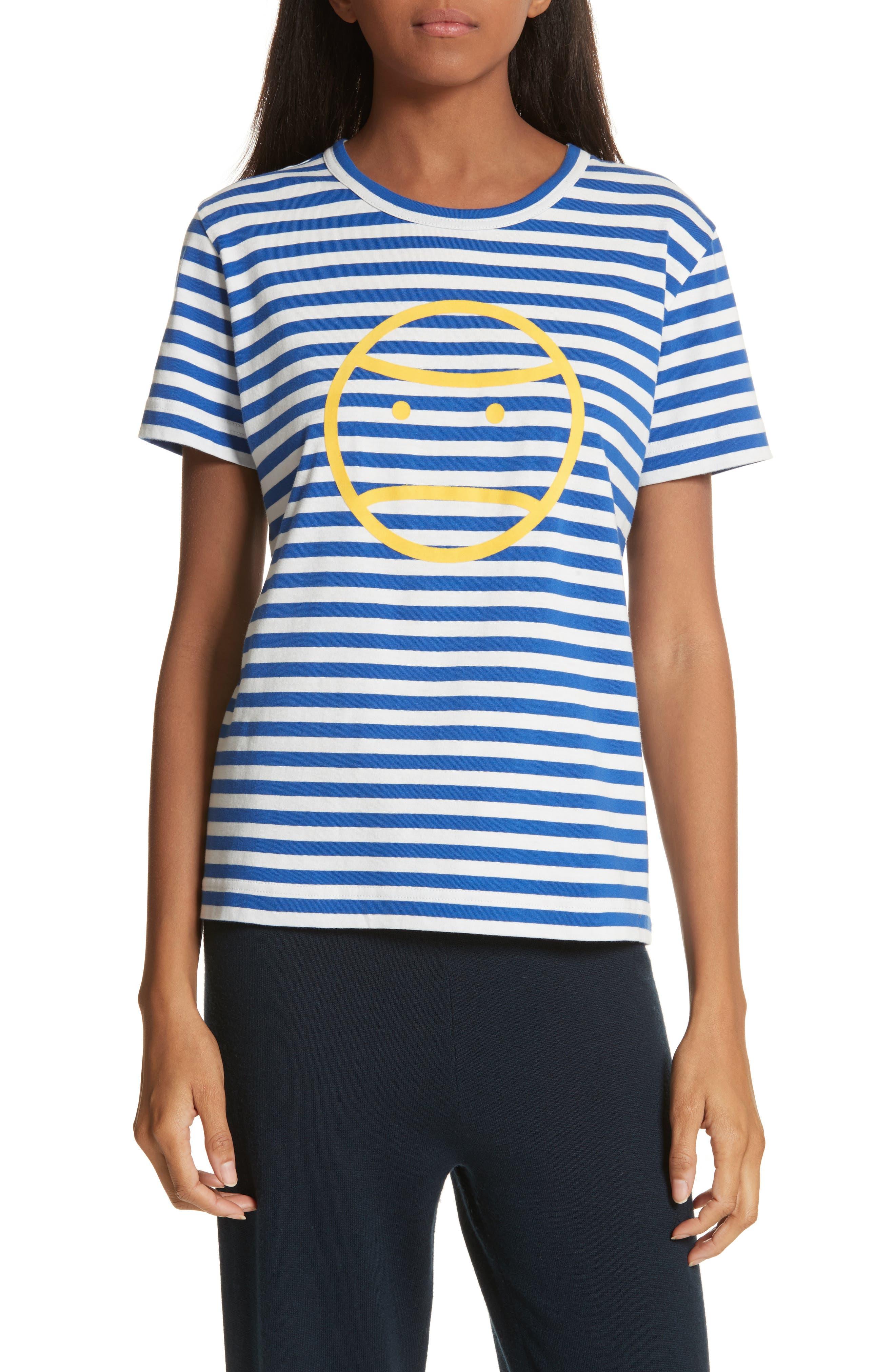 Tory Sport Little Grumps Stripe Tee, Blue