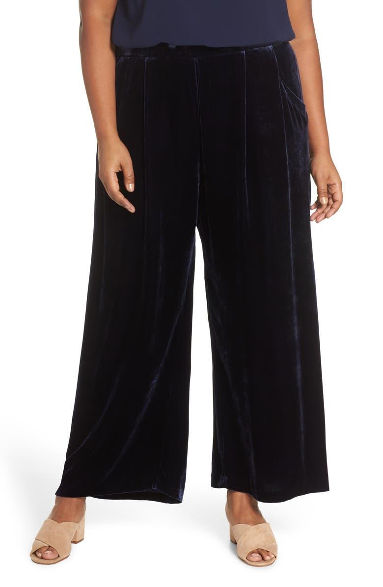 Eileen Fisher Wide leg pants HIGH RISE WIDE LEG VELVET ANKLE PANTS