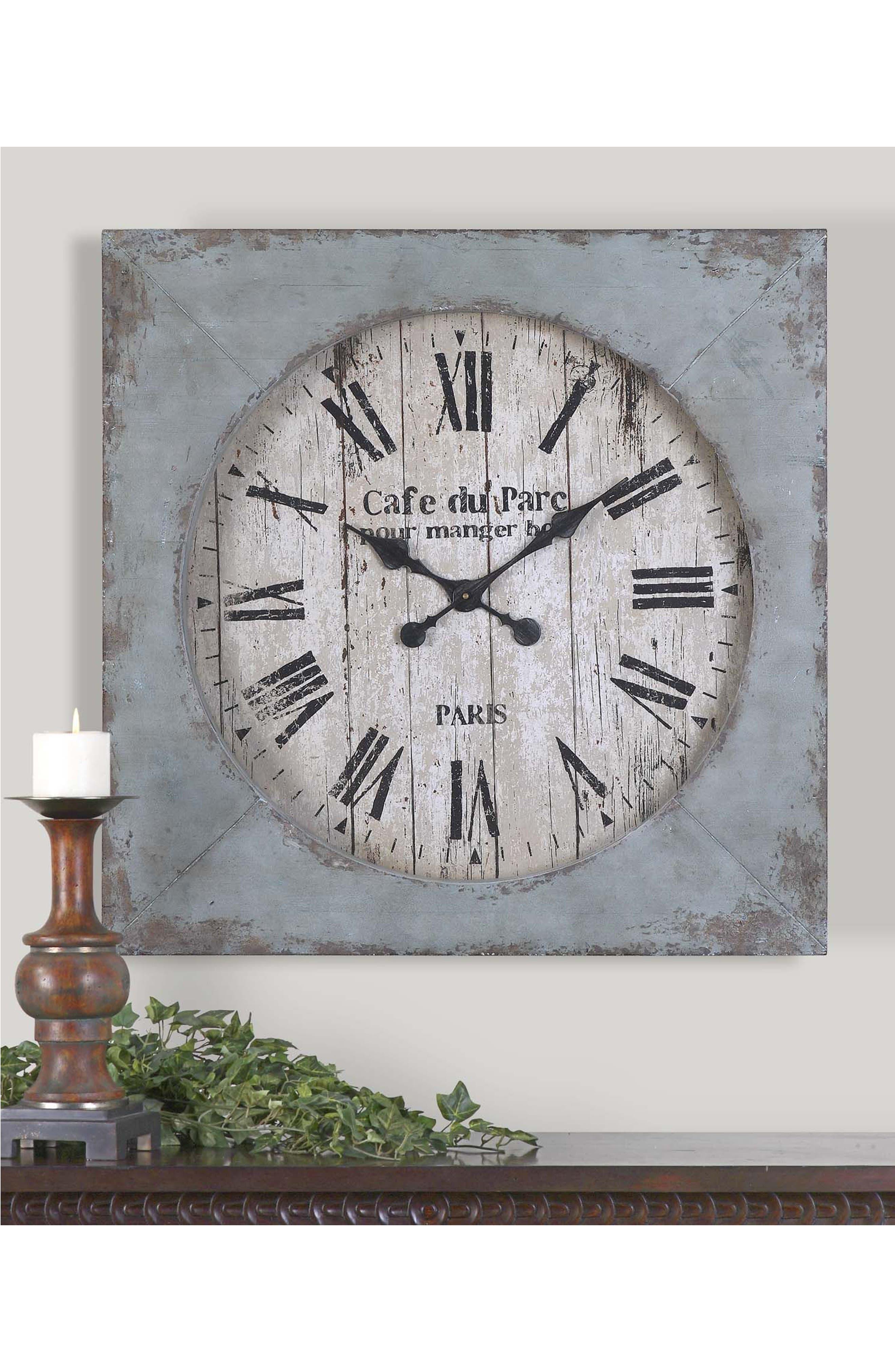 Paron Wall Clock,                             Alternate thumbnail 2, color,                             440
