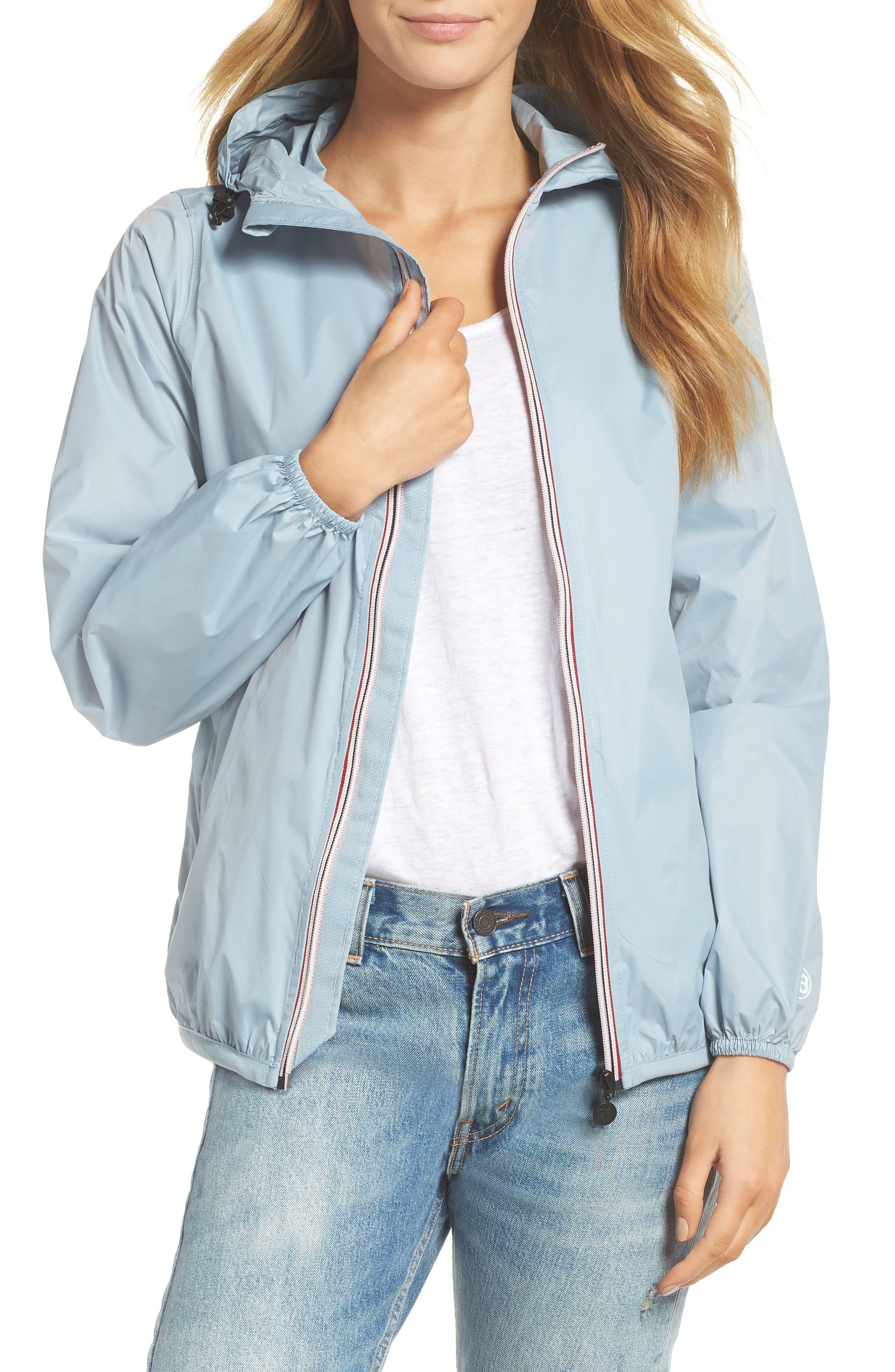 Packable Rain Jacket,                         Main,                         color, CELESTIAL BLUE