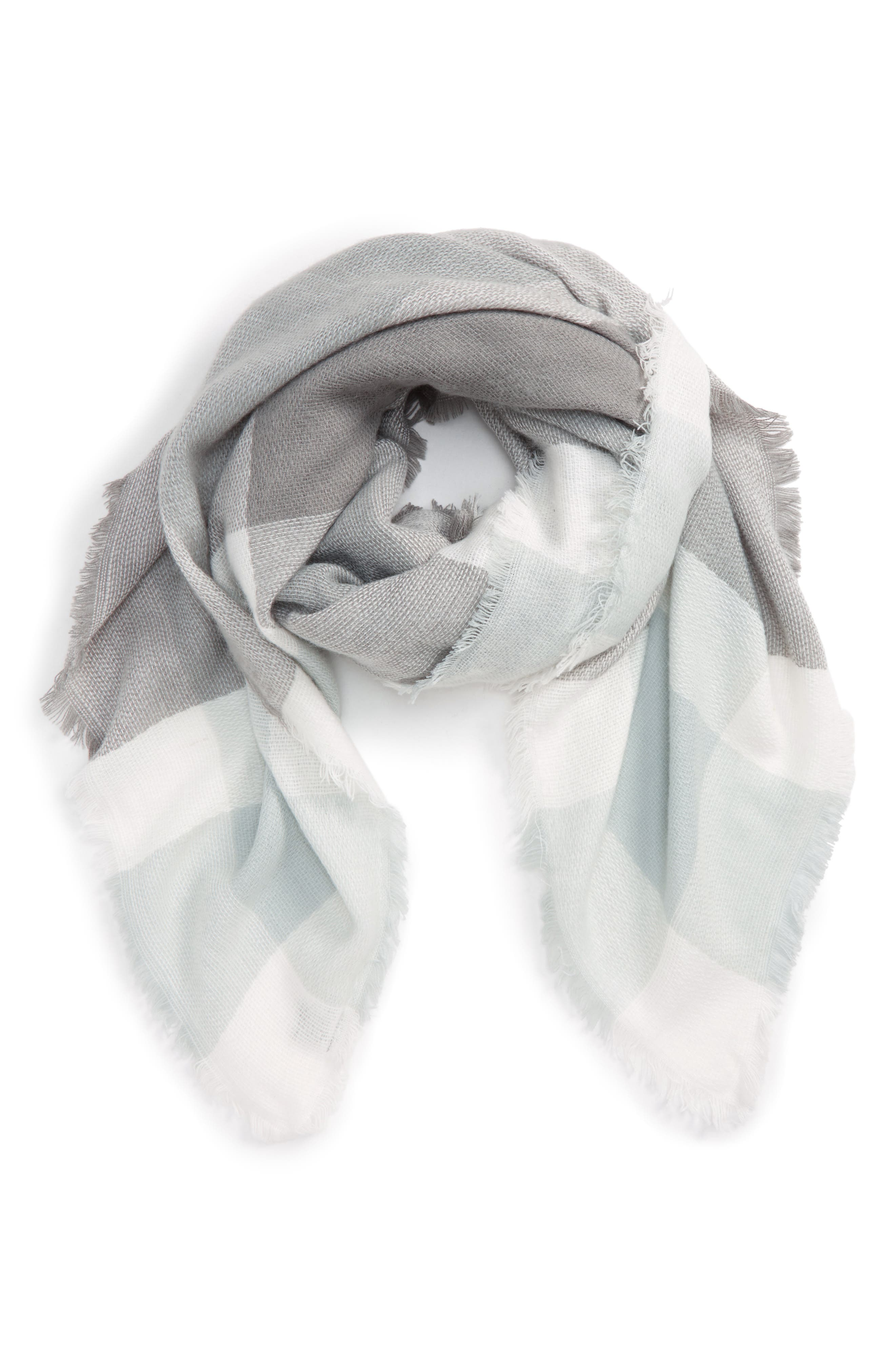 Accessory Collective Plaid Scarf,                             Main thumbnail 1, color,                             020