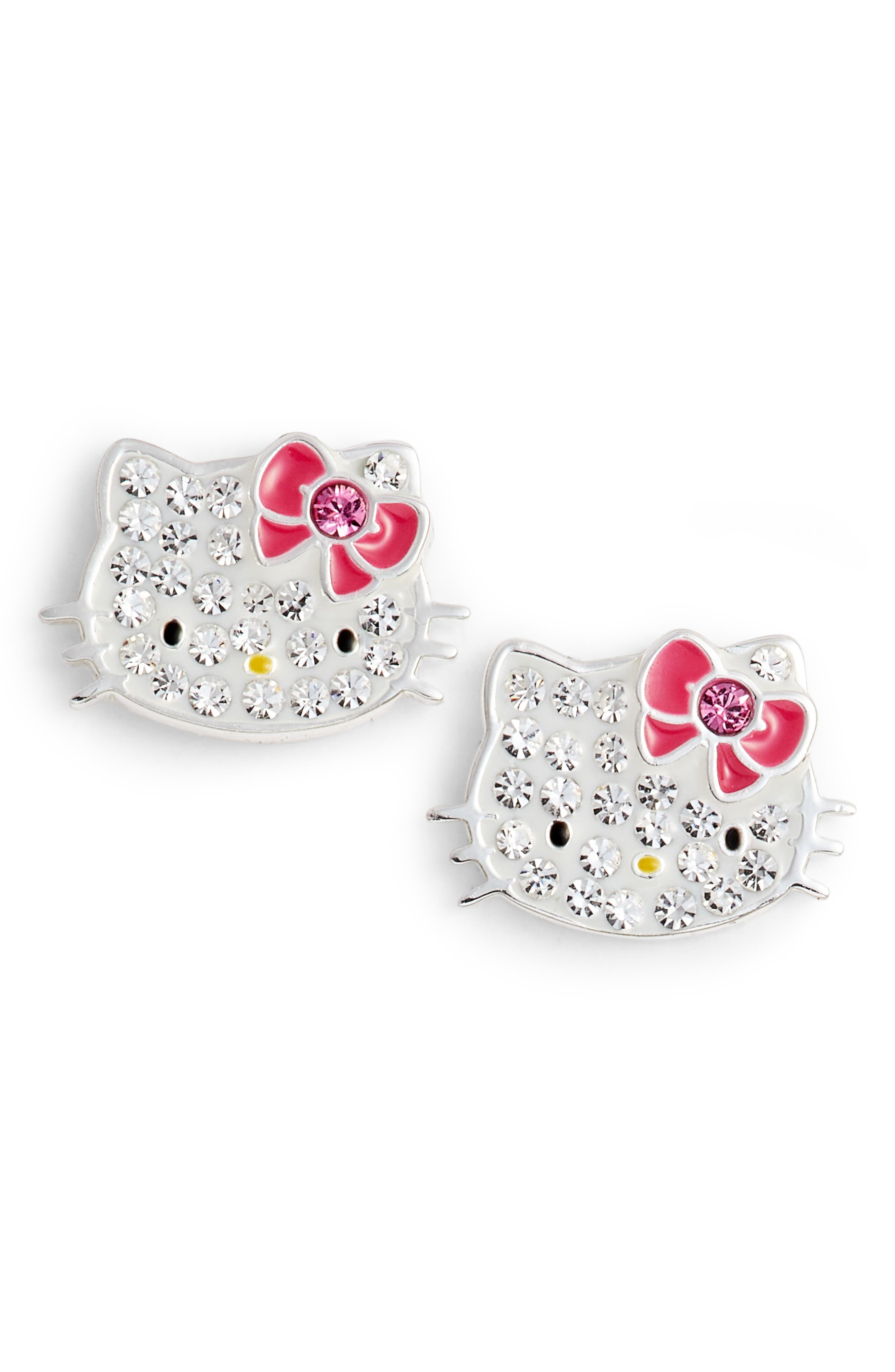 Crystal Stud Earrings,                             Main thumbnail 1, color,                             040