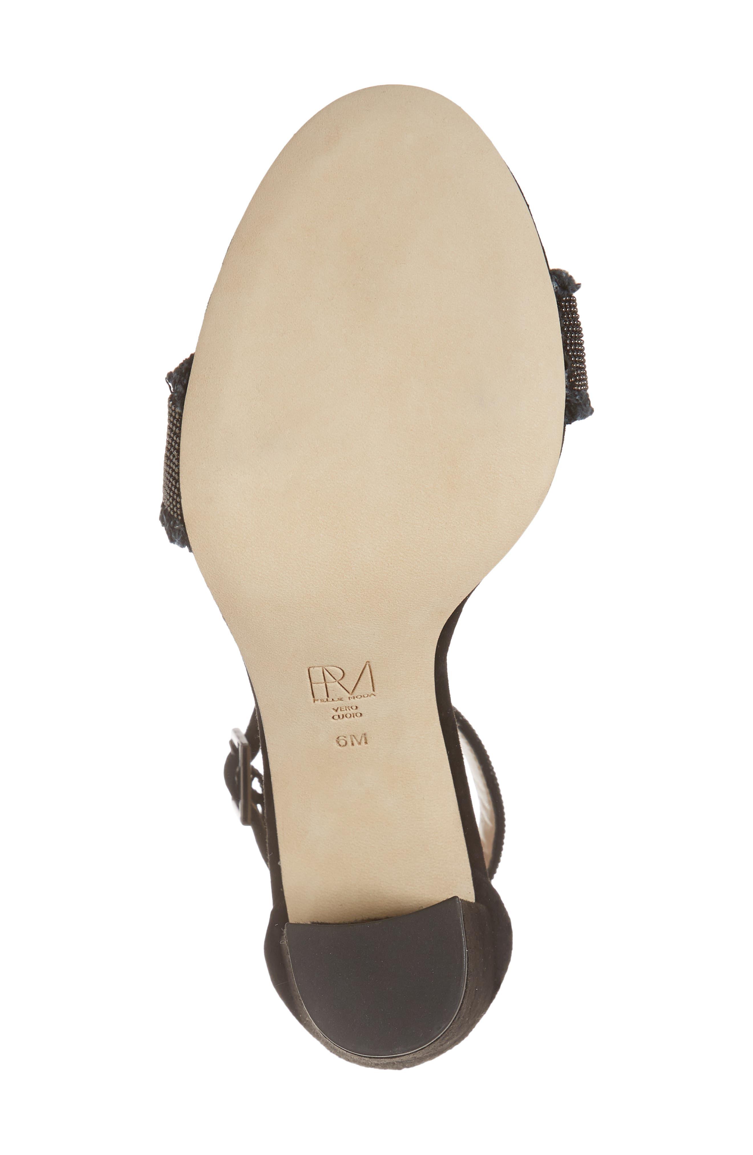 PELLE MODA,                             Bonnie6 Embellished Sandal,                             Alternate thumbnail 6, color,                             BLACK SUEDE