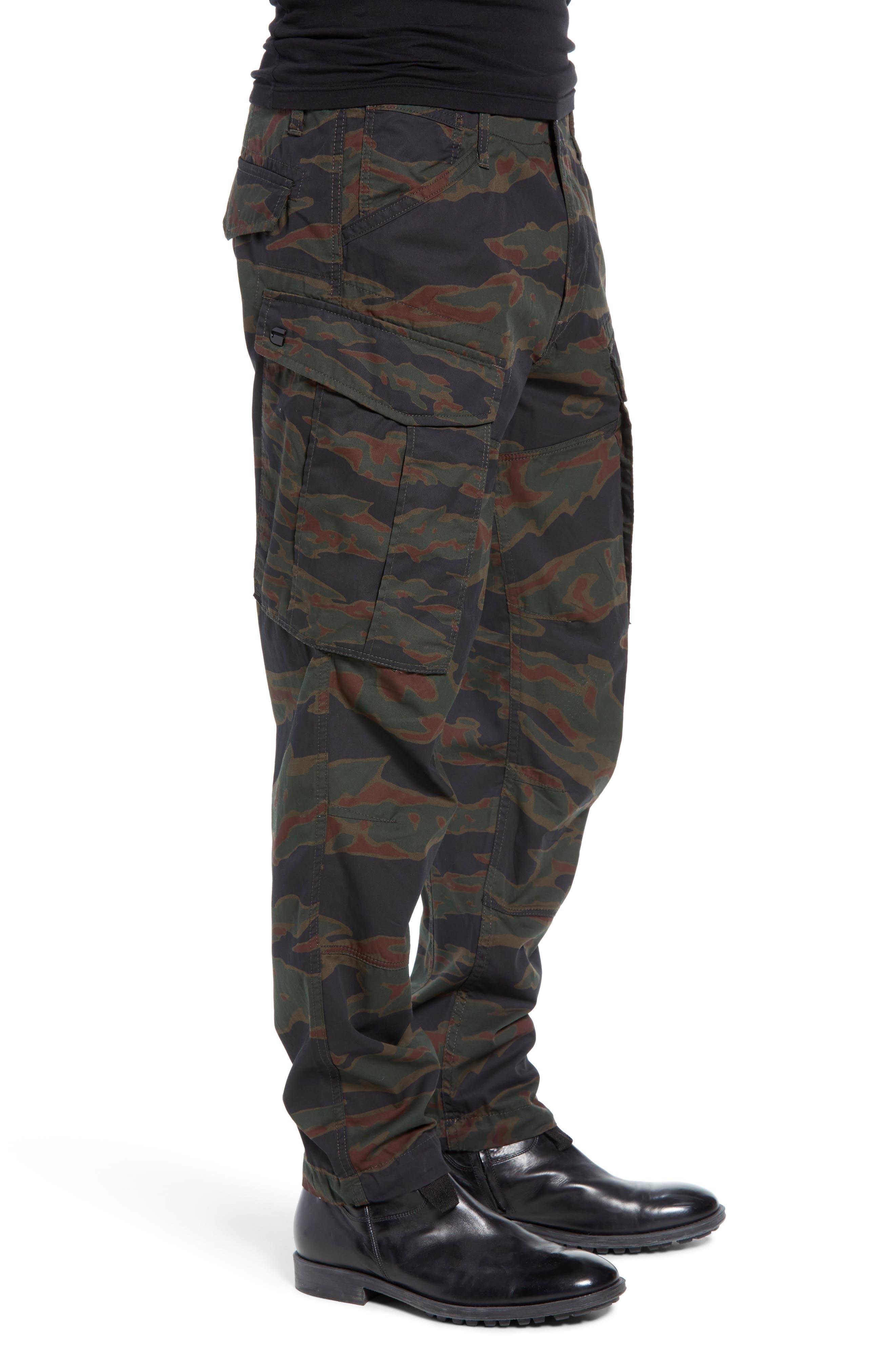 Rovic Tapered Cargo Pants,                             Alternate thumbnail 3, color,                             SMOKE GREEN/ DARK VERMO