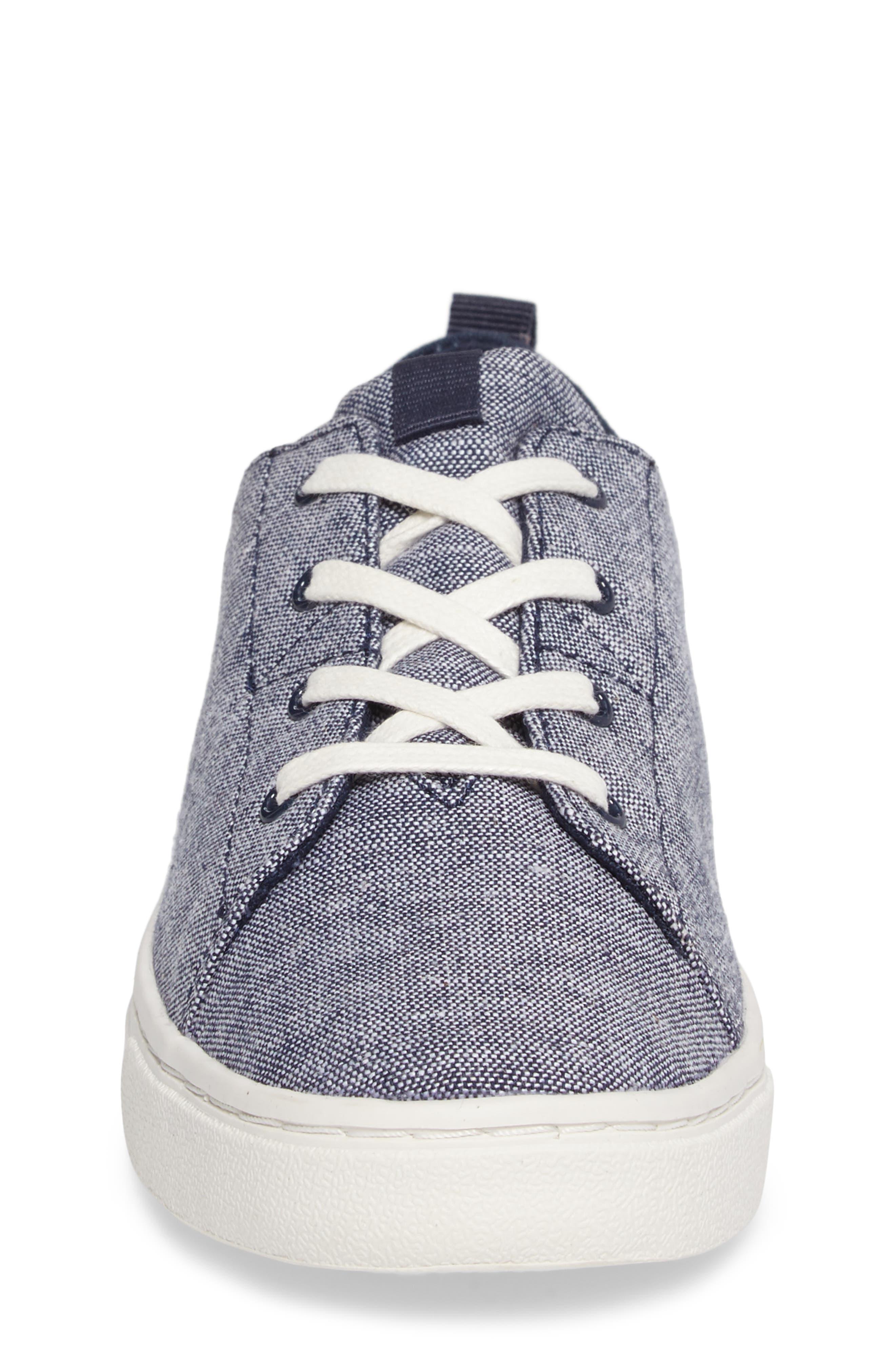 Lenny Sneaker,                             Alternate thumbnail 4, color,                             NAVY CHAMBRAY