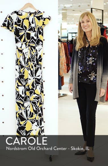 Deconstructed Floral Print Maxi Dress, sales video thumbnail