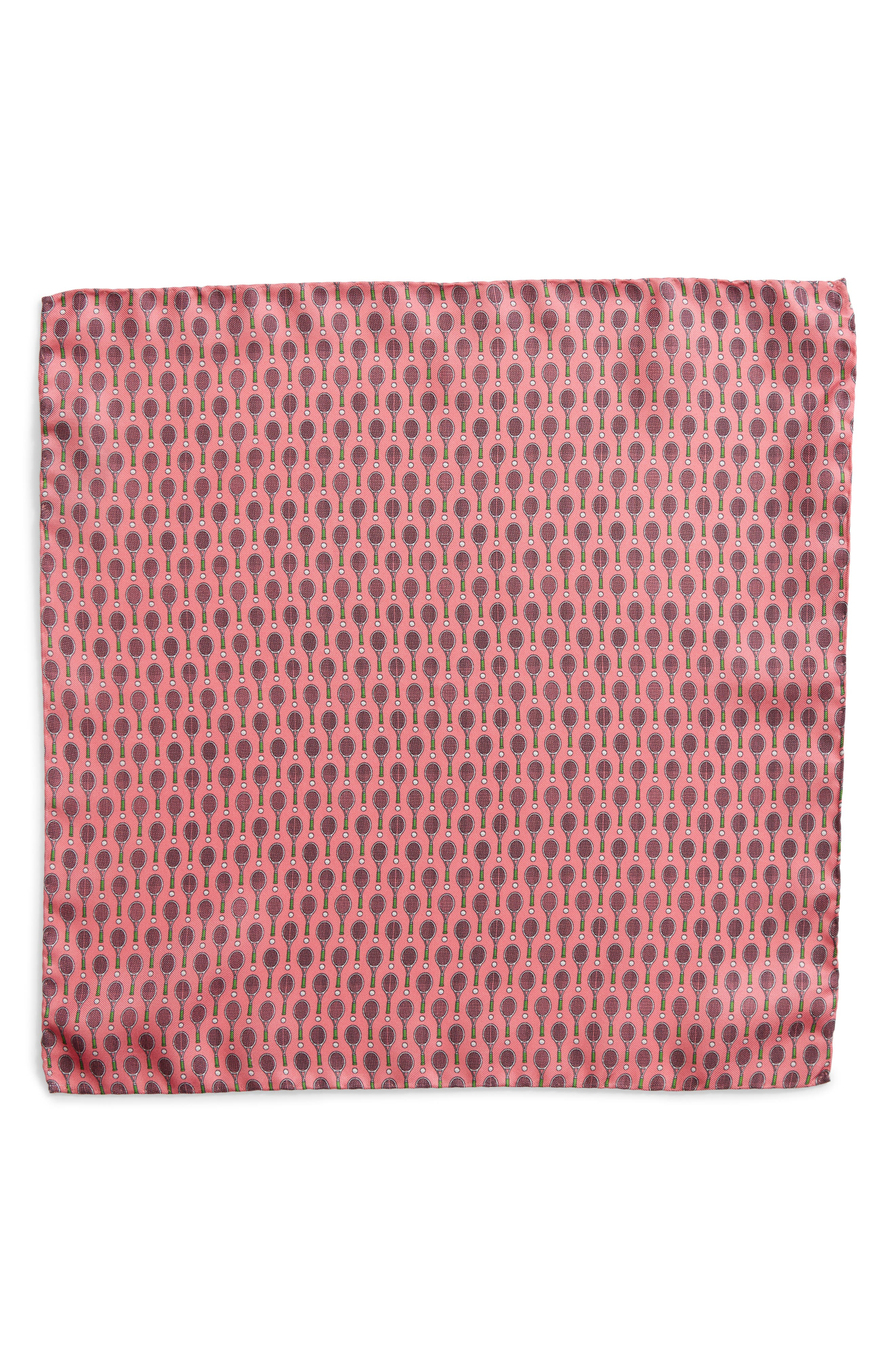 At Your Service Silk Pocket Square,                             Alternate thumbnail 2, color,                             PINK