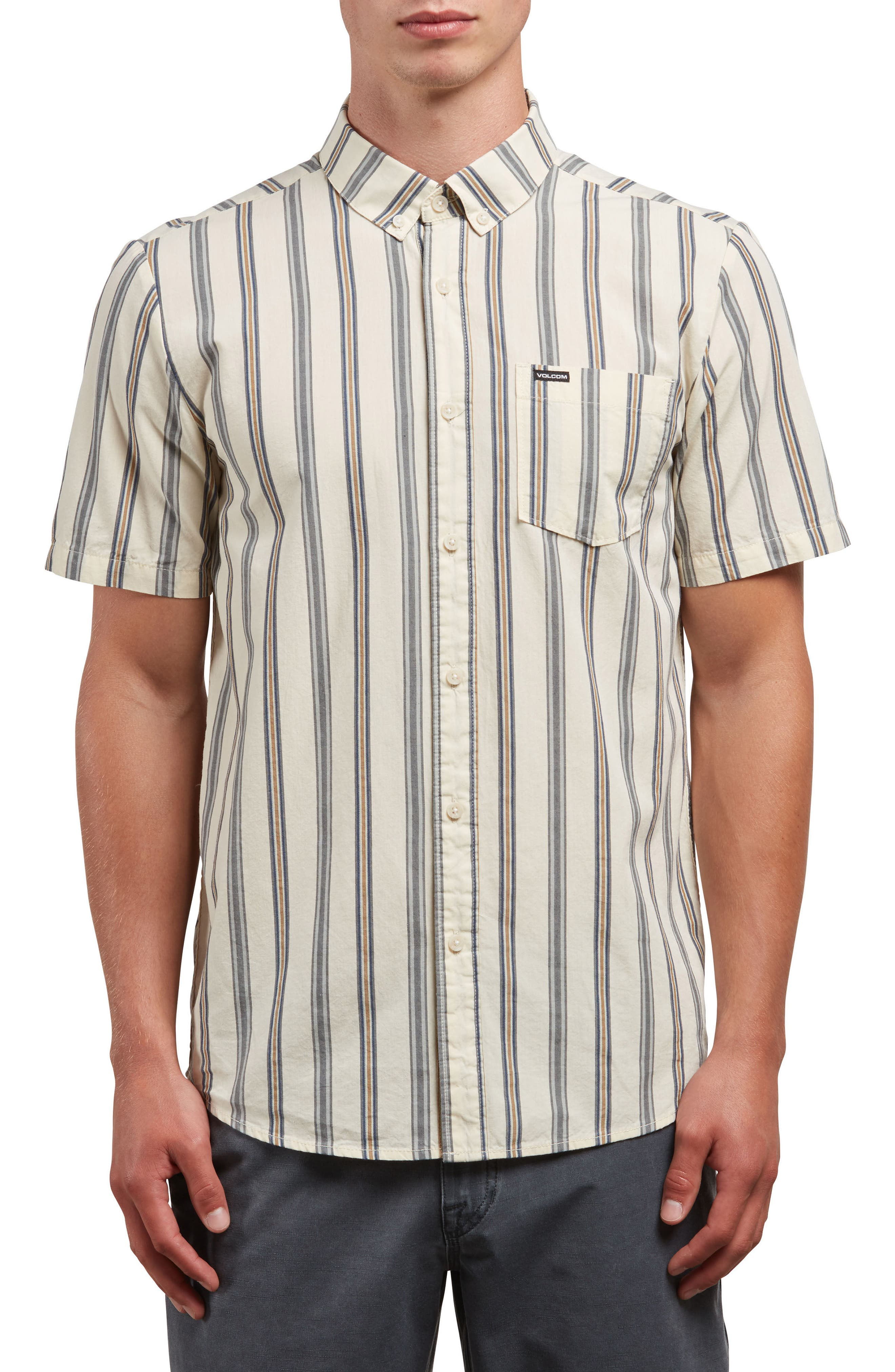 Mix Bag Woven Shirt,                             Main thumbnail 1, color,                             WHITE FLASH