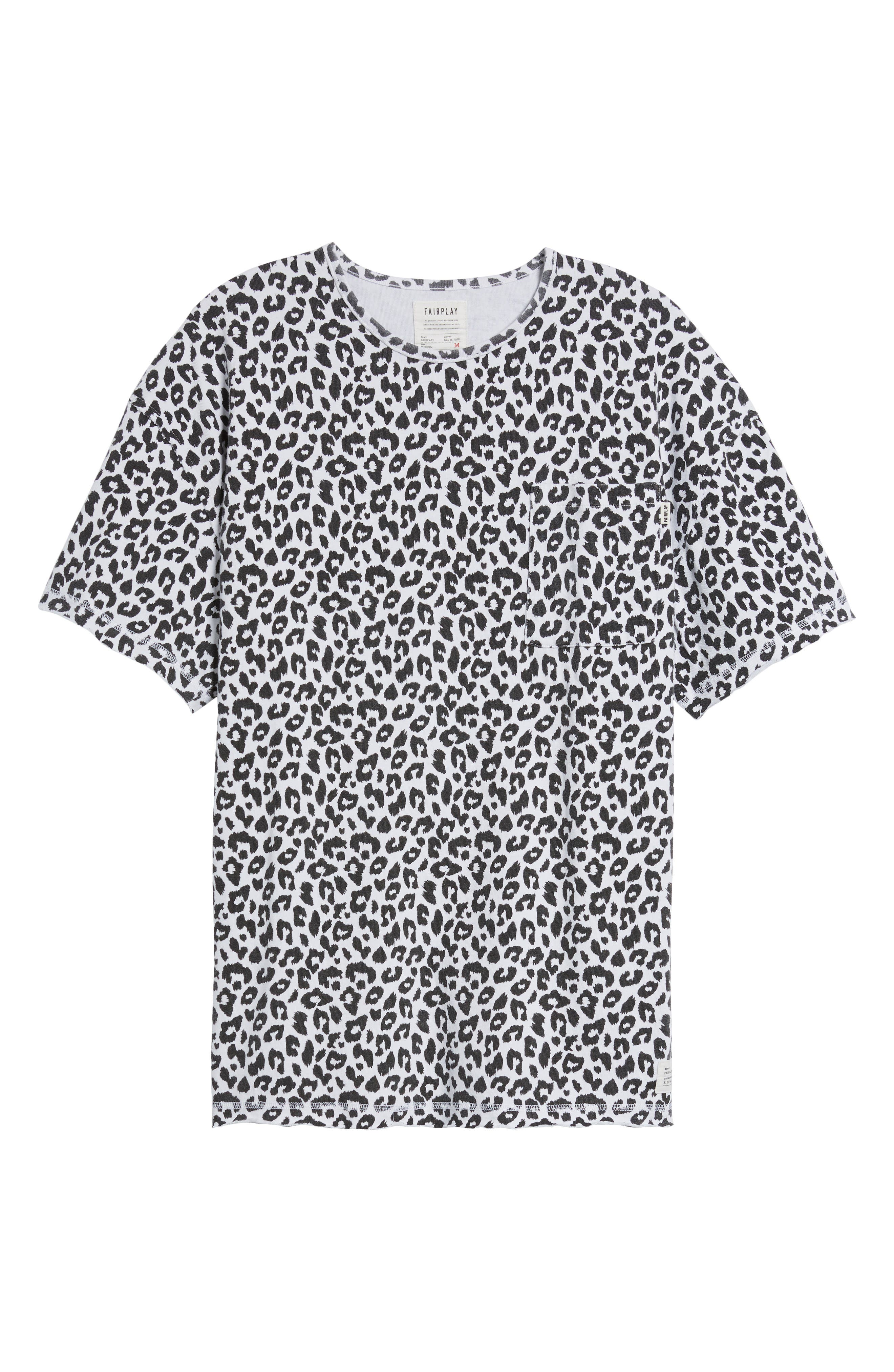 Mich Print T-Shirt,                             Alternate thumbnail 6, color,                             100
