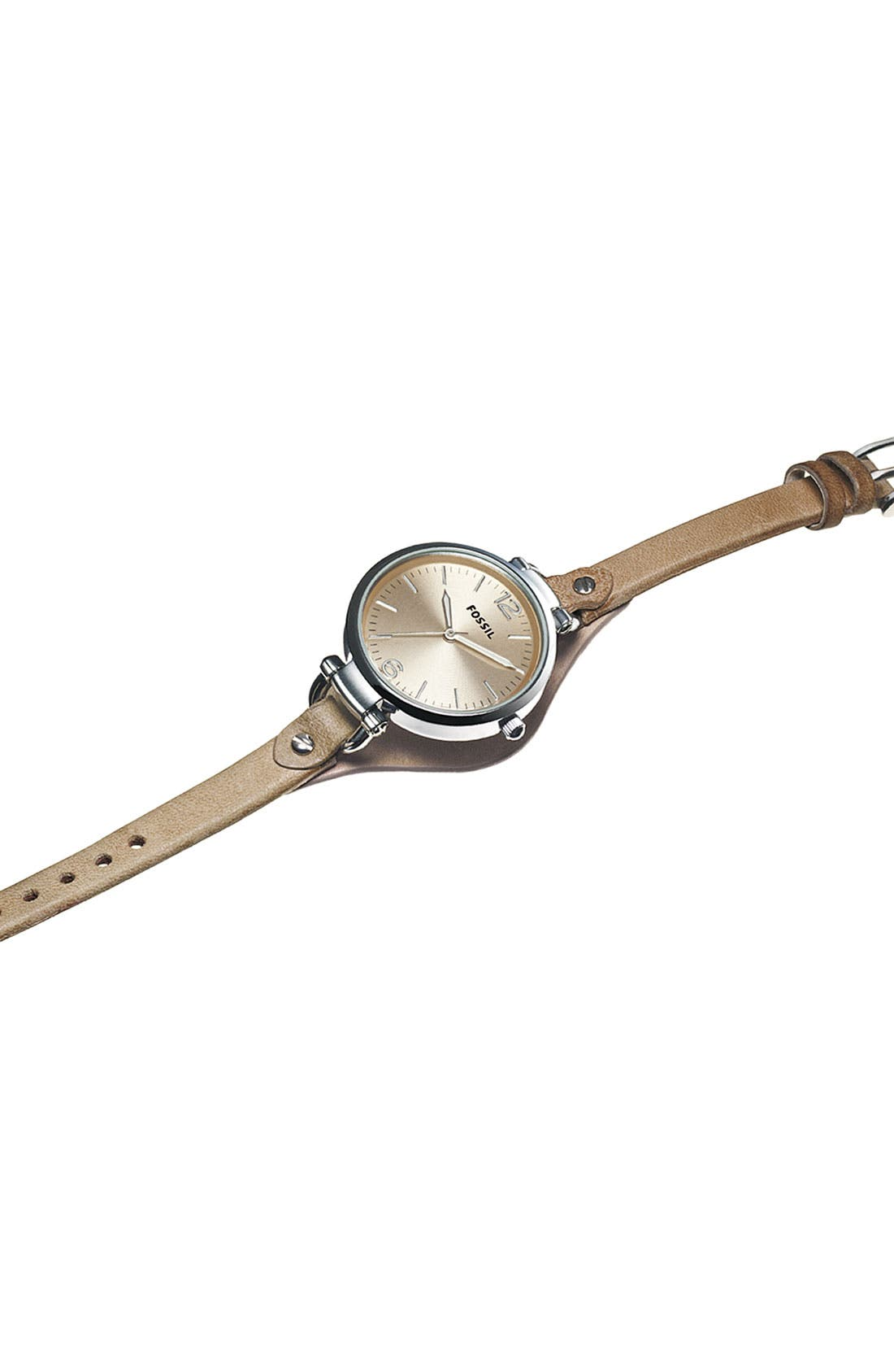 'Georgia' Leather Strap Watch, 32mm,                             Alternate thumbnail 2, color,                             101