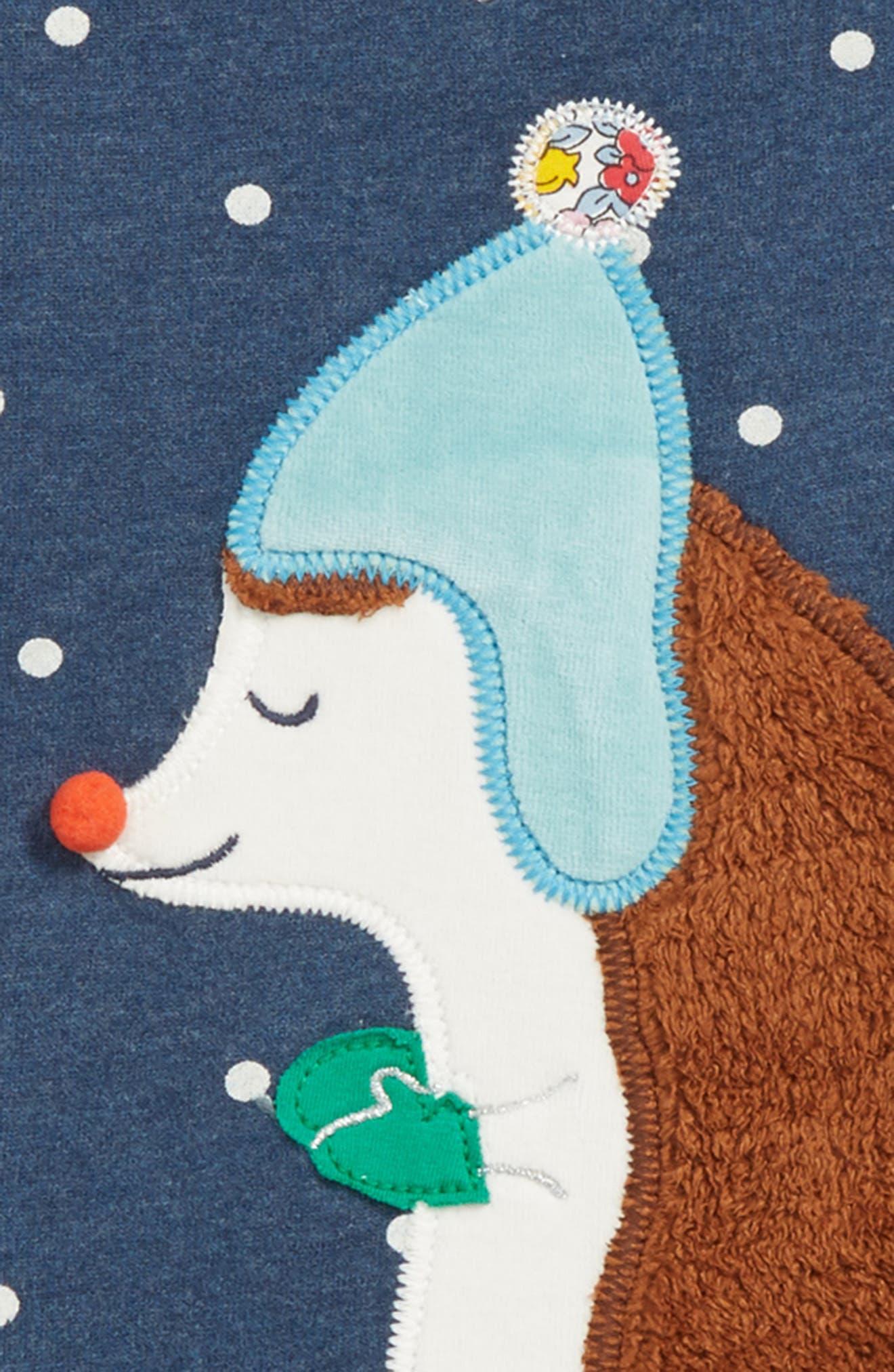 Mini Boden Fluffy Friends Sweatshirt,                             Alternate thumbnail 2, color,                             SCHOOL NAVY HEDGEHOG