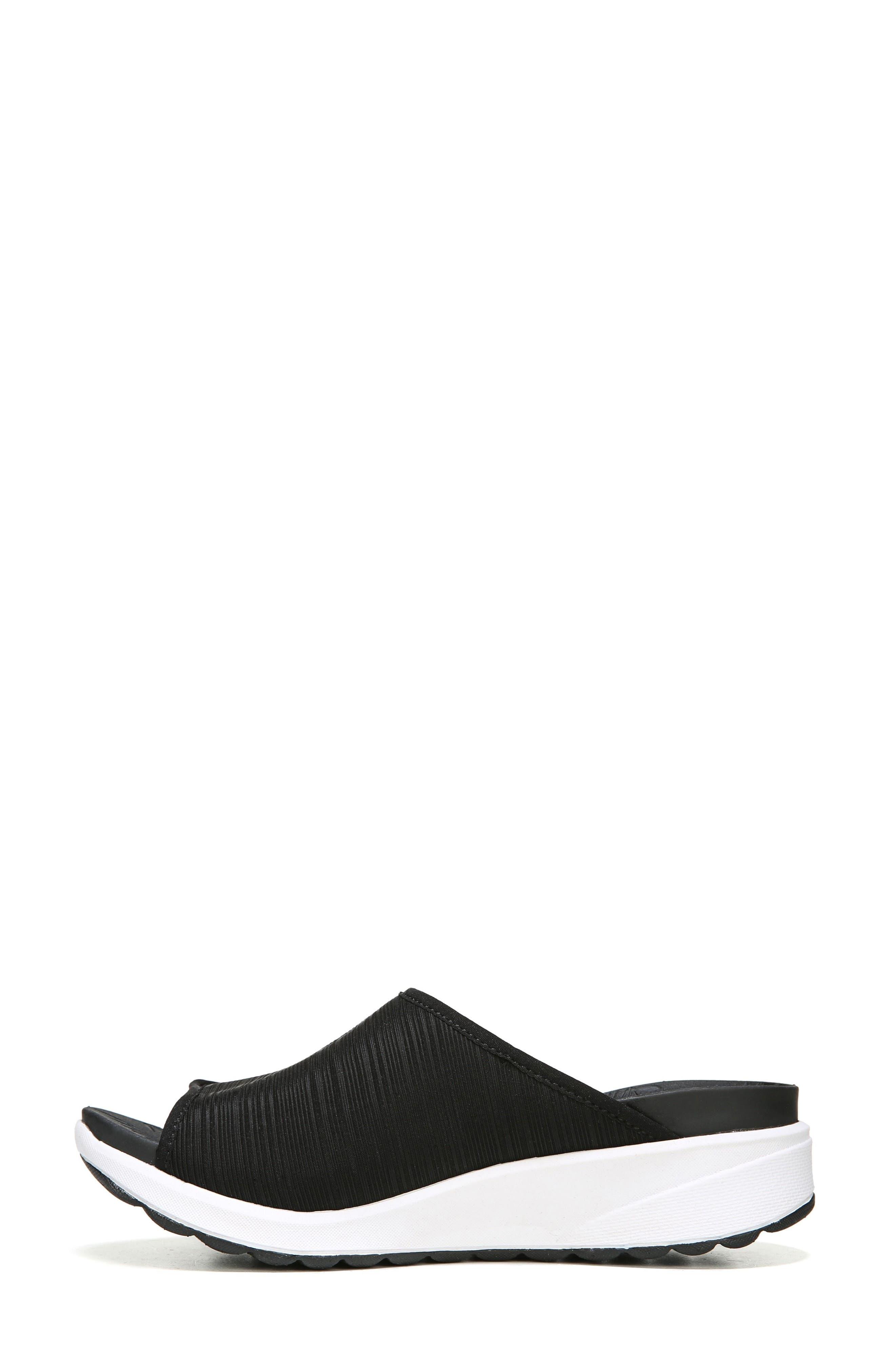 Galaxy Slide Sandal,                             Alternate thumbnail 3, color,                             BLACK FABRIC