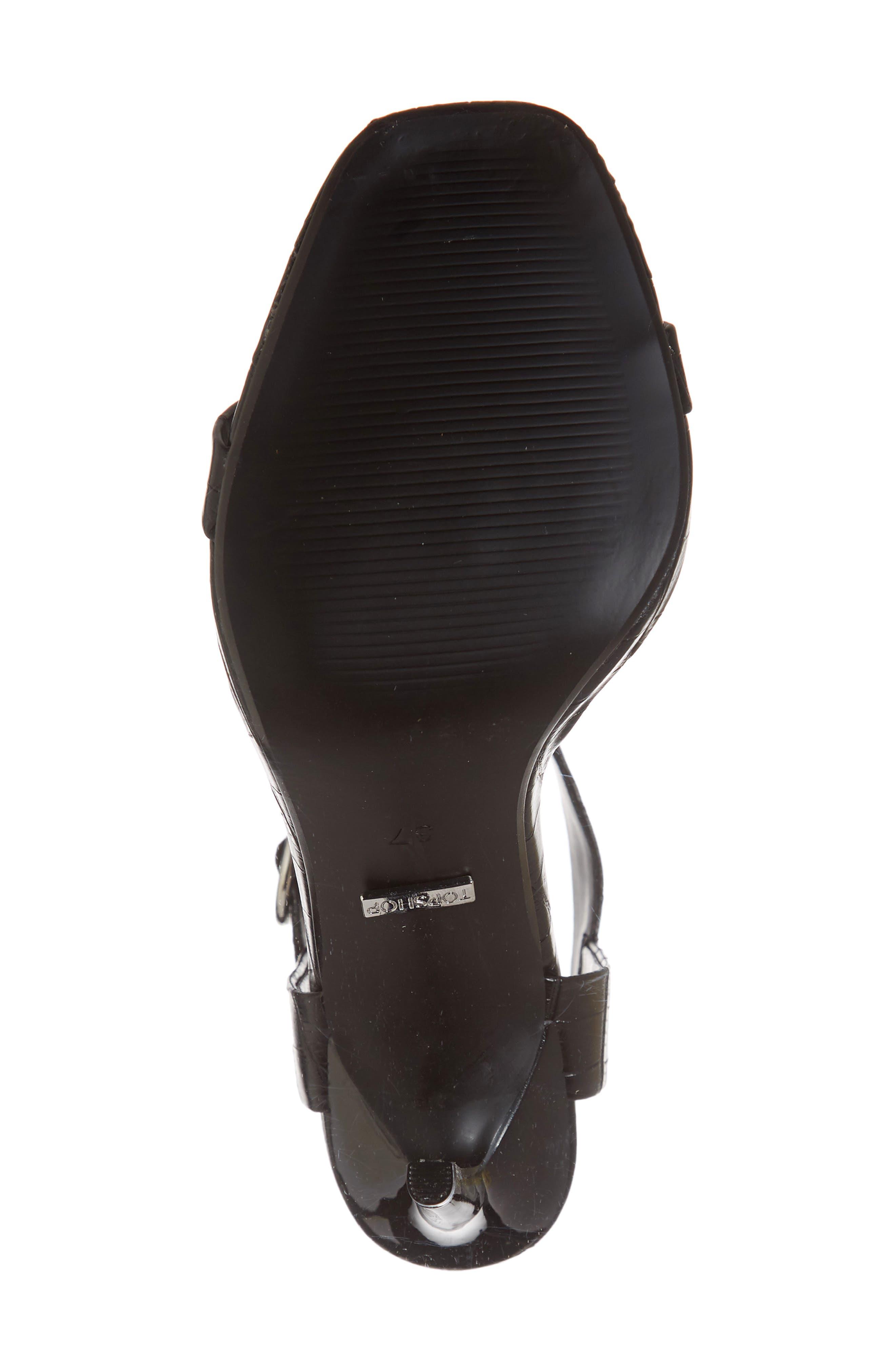 Ria Ankle Cuff Sandal,                             Alternate thumbnail 6, color,                             BLACK