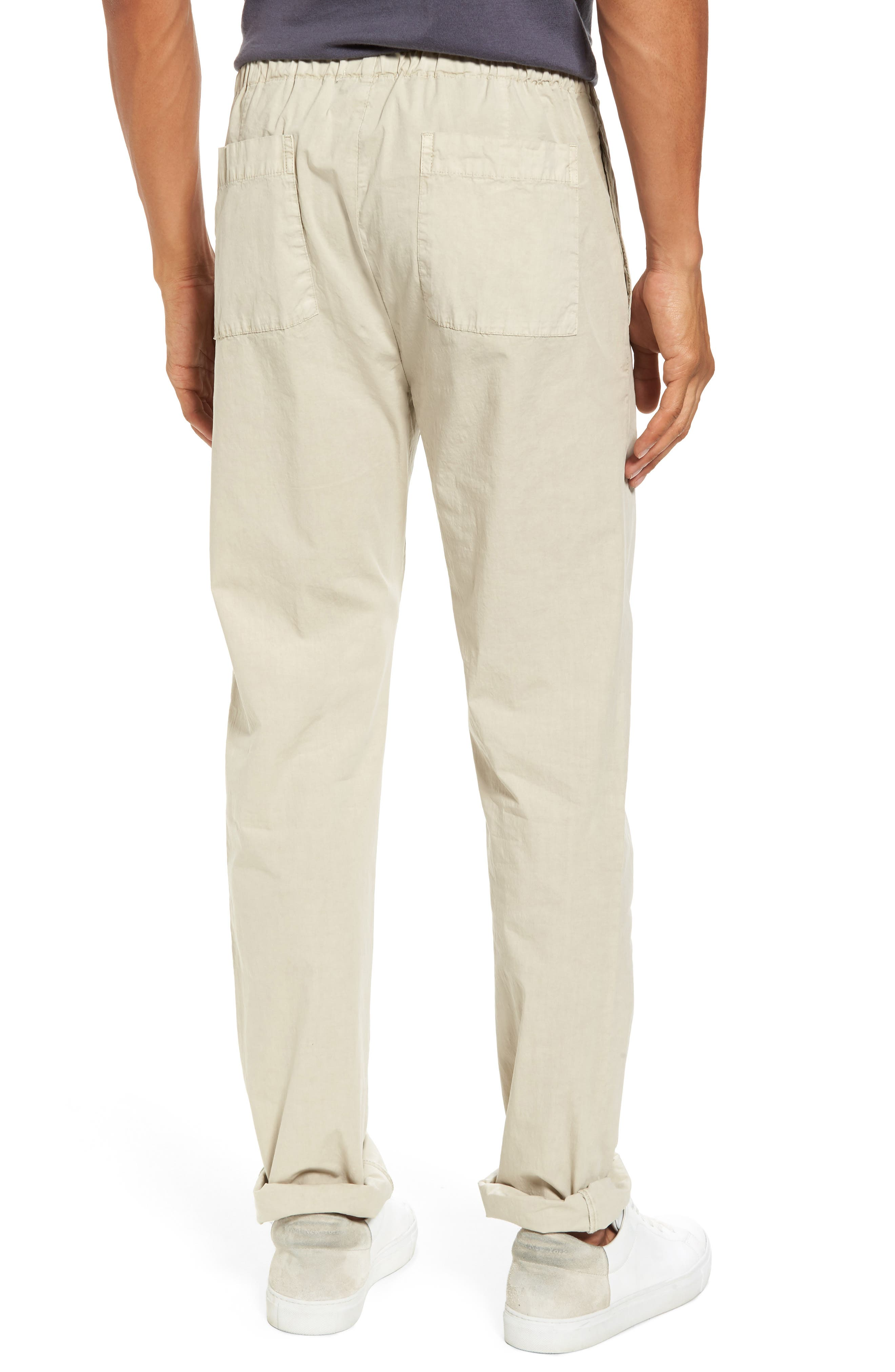 Slim Stretch Poplin Drawcord Pants,                             Alternate thumbnail 8, color,