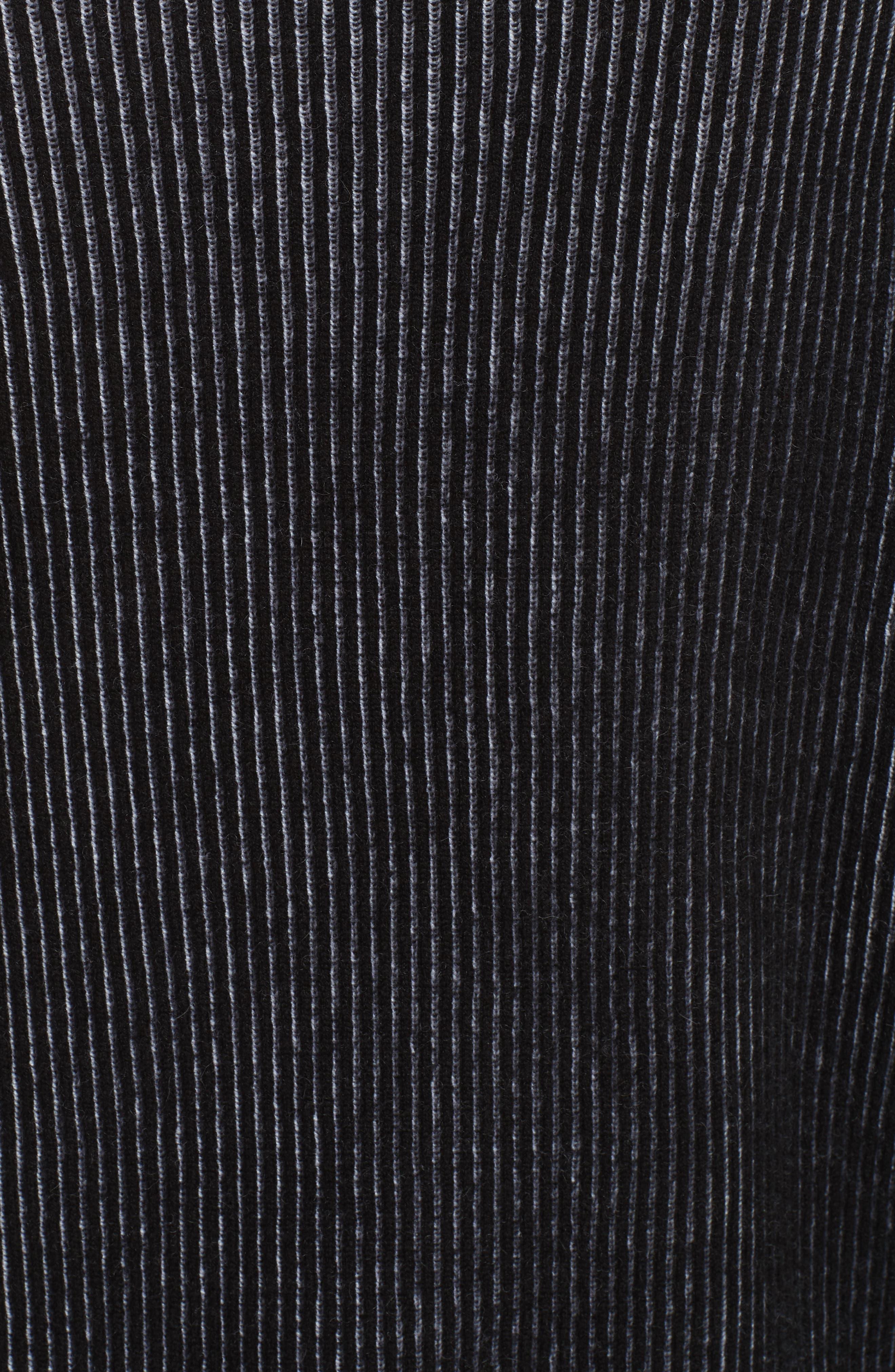 AAA Turtleneck Cashmere Sweater,                             Alternate thumbnail 5, color,                             BLACK/ CREAM