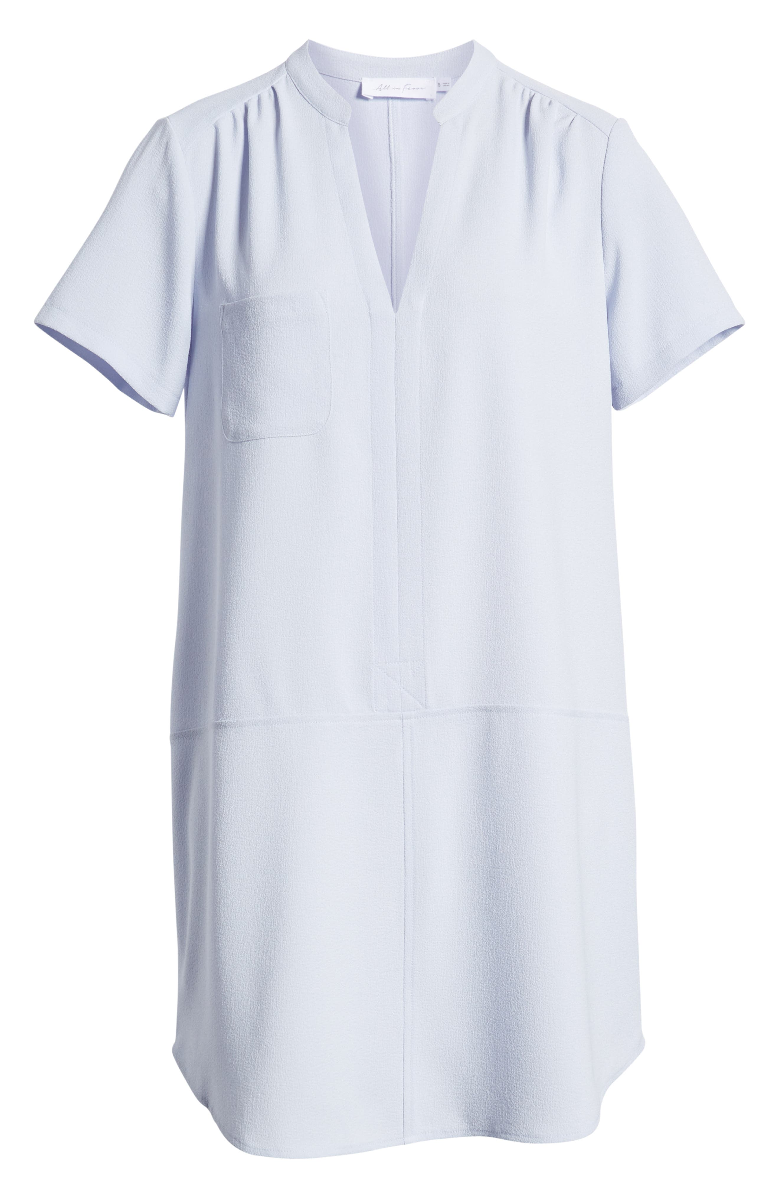 ALL IN FAVOR,                             Hailey Crepe Dress,                             Alternate thumbnail 7, color,                             HEATHER BLUE