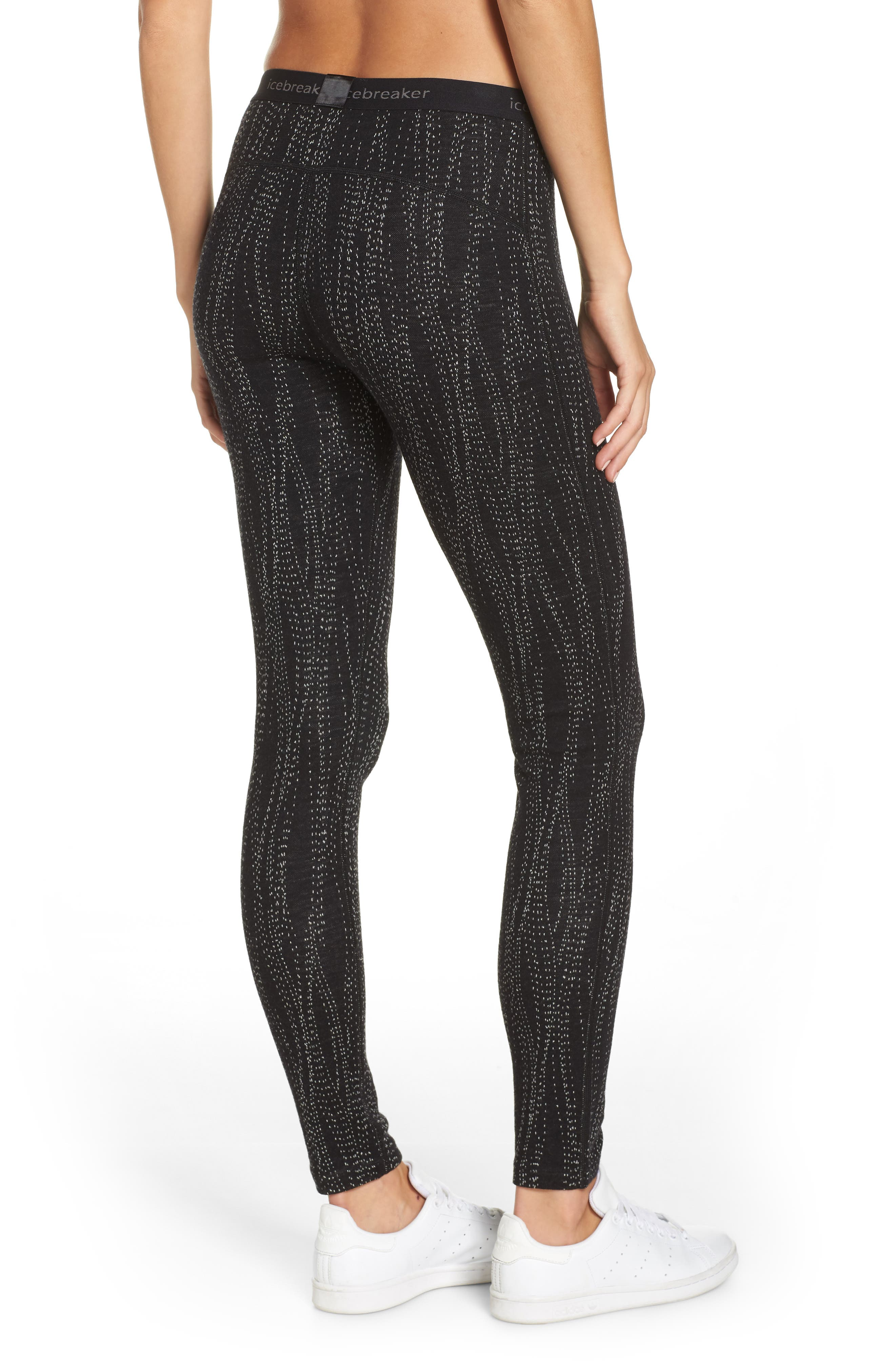 250 Vertex Merino Wool Base Layer Leggings,                             Alternate thumbnail 2, color,                             BLACK/ SNOW