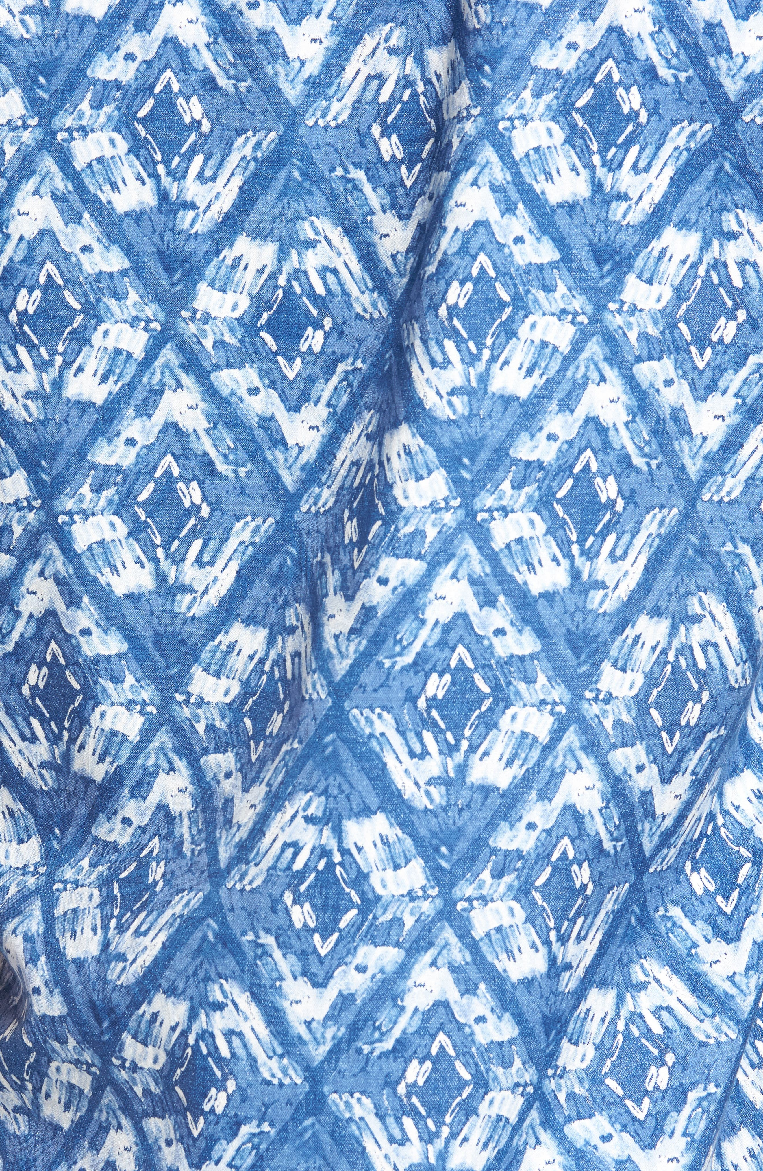 Deep Water Diamond Camp Shirt,                             Alternate thumbnail 5, color,