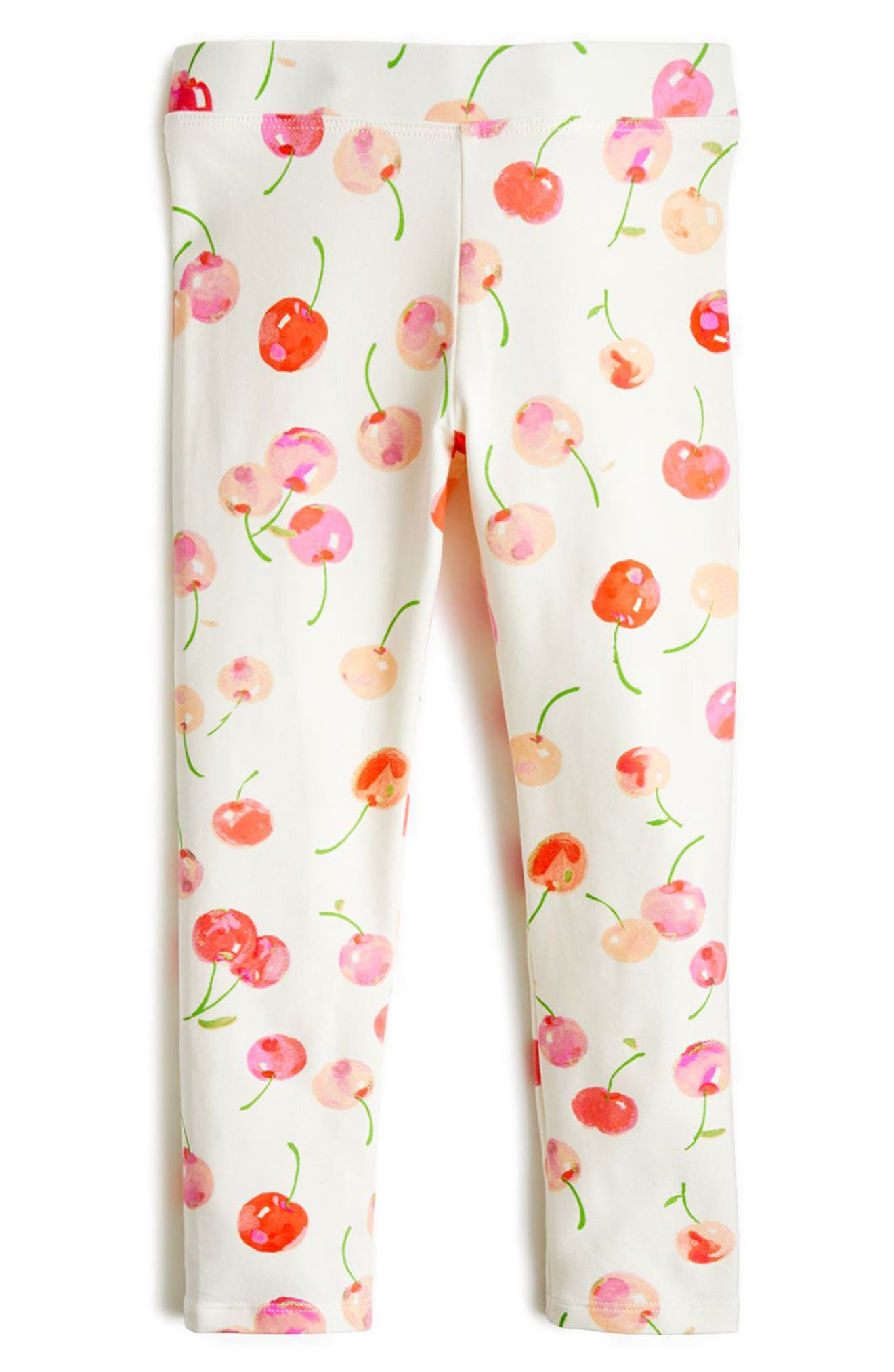 Cherry Print Leggings,                         Main,                         color, 900