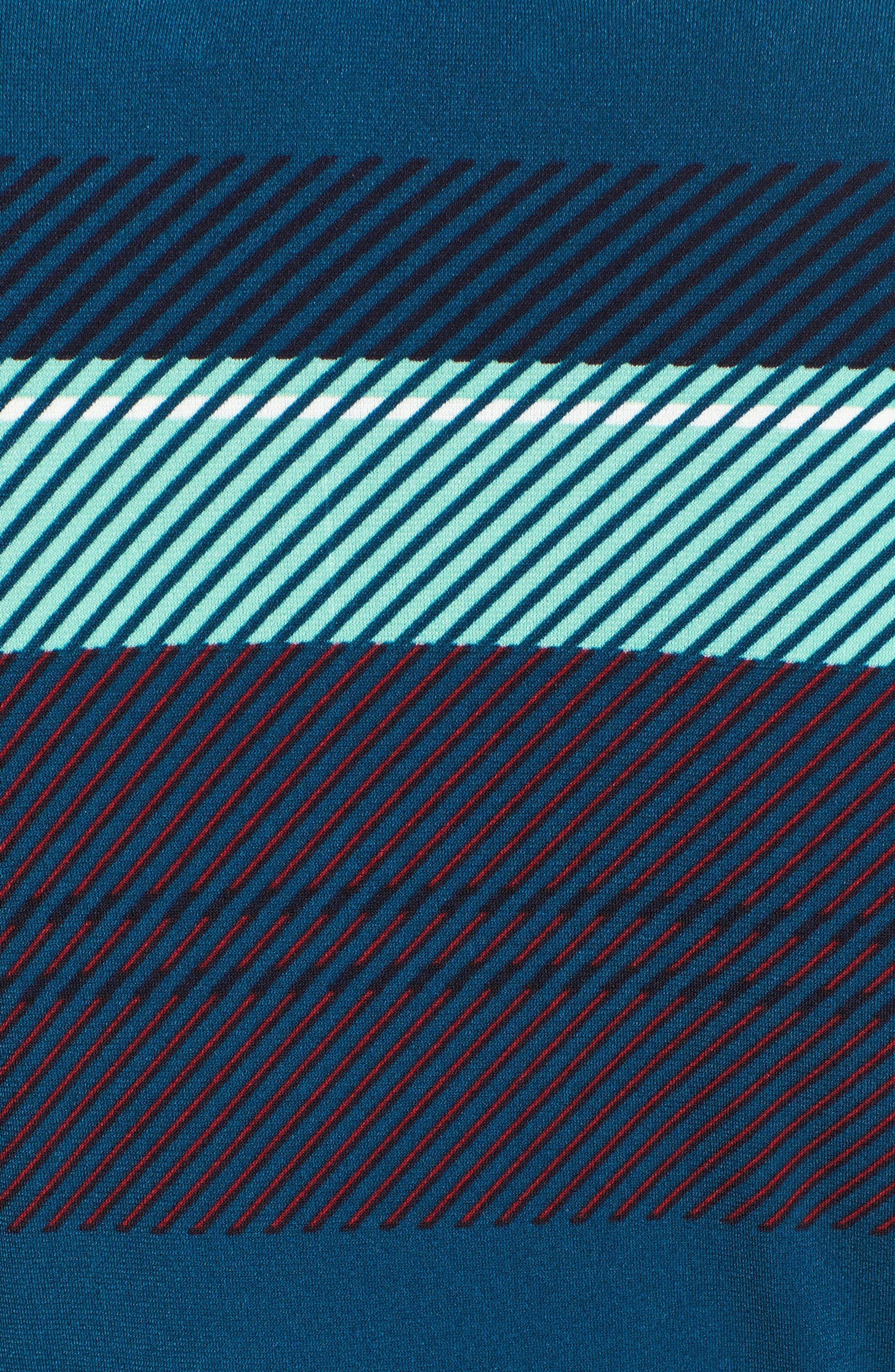 Banner Plaid Cowl Neck Top,                             Alternate thumbnail 5, color,                             LADYBUG
