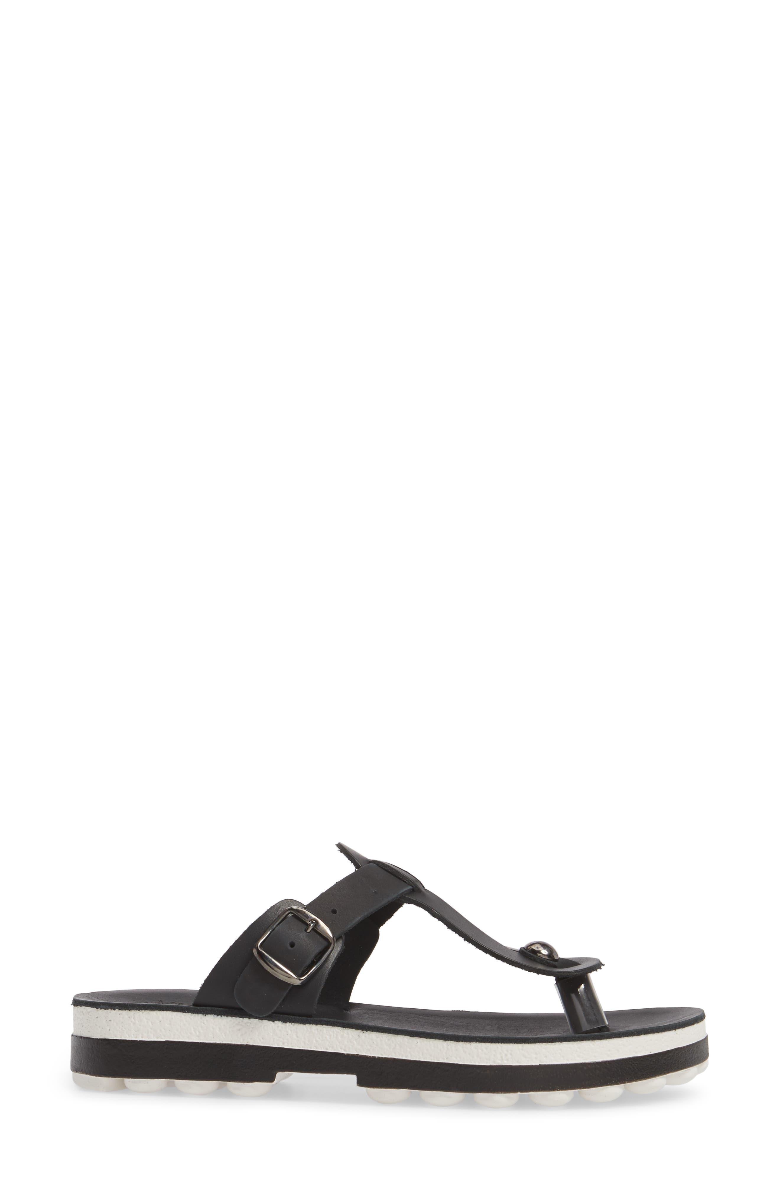 Mirabella Fantasy Sandal,                             Alternate thumbnail 3, color,                             BLACK LEATHER
